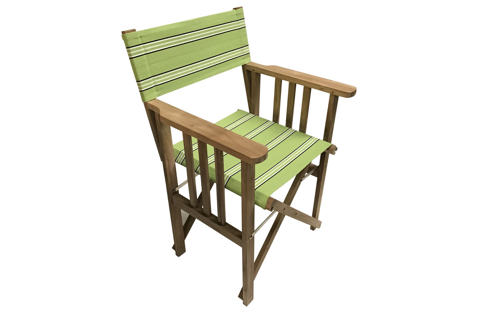 Sprinting Lime Green Teak Directors Chair