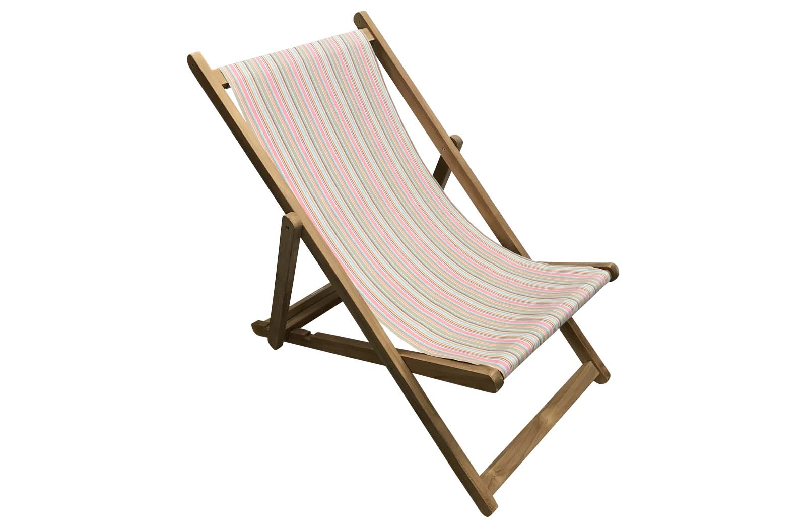 Pink, Taupe, Blue Stripe Deckchairs