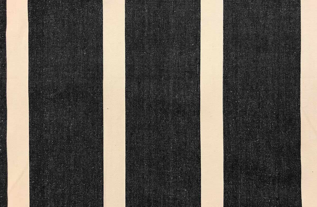black, ivory- Striped Fabrics | Stripe Cotton Fabrics | Striped Curtain Fabrics | Upholstery Fabrics