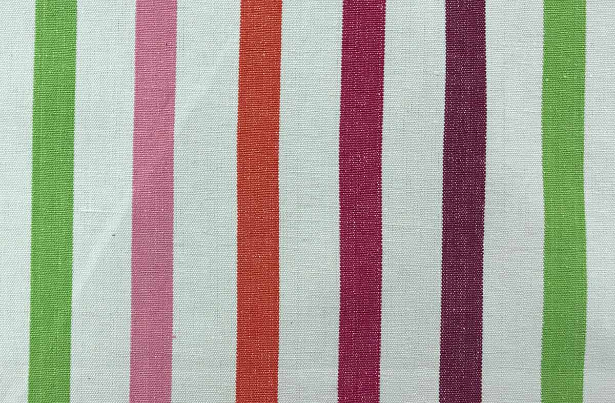 Striped Fabric White Pink Purple Lime Stripes Striped