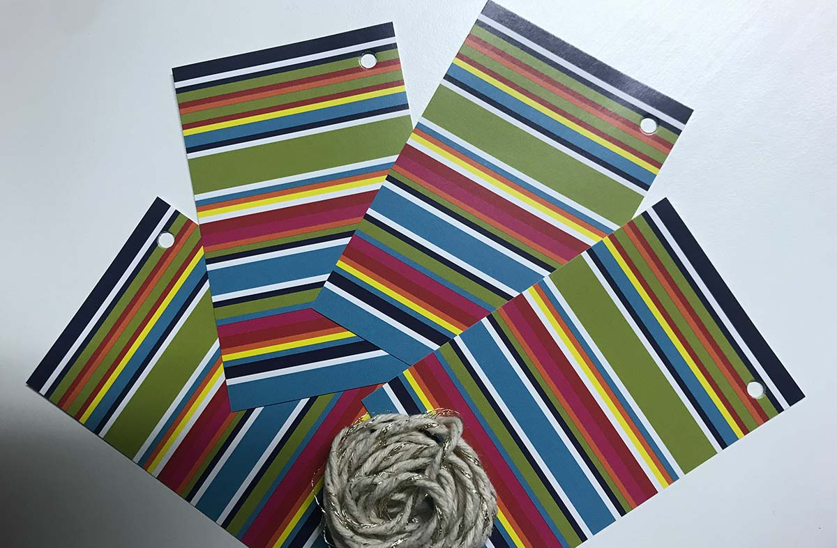 Colourful Stripe Gift Tags from The Stripes Company