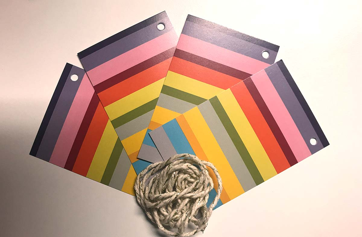 Rainbow Stripe Gift Tags from The Stripes Company