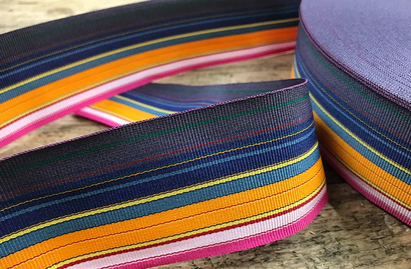 Striped Grosgrain Ribbon thin multi stripes