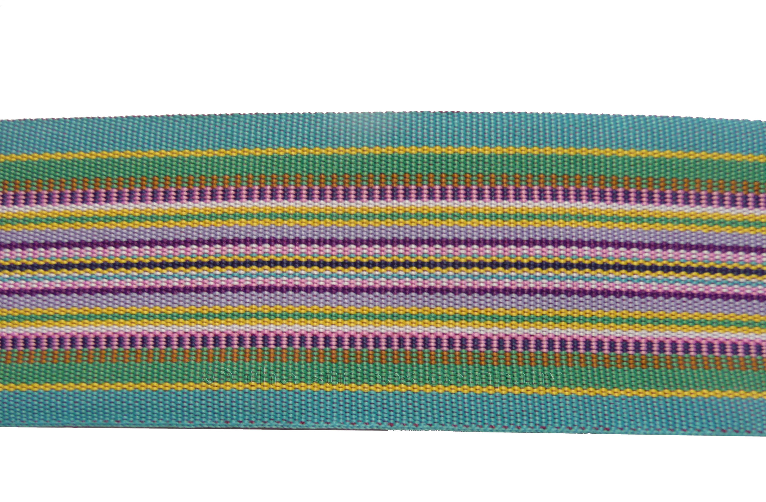 Stripe Grosgrain Ribbon Turquoise Multi Stripe