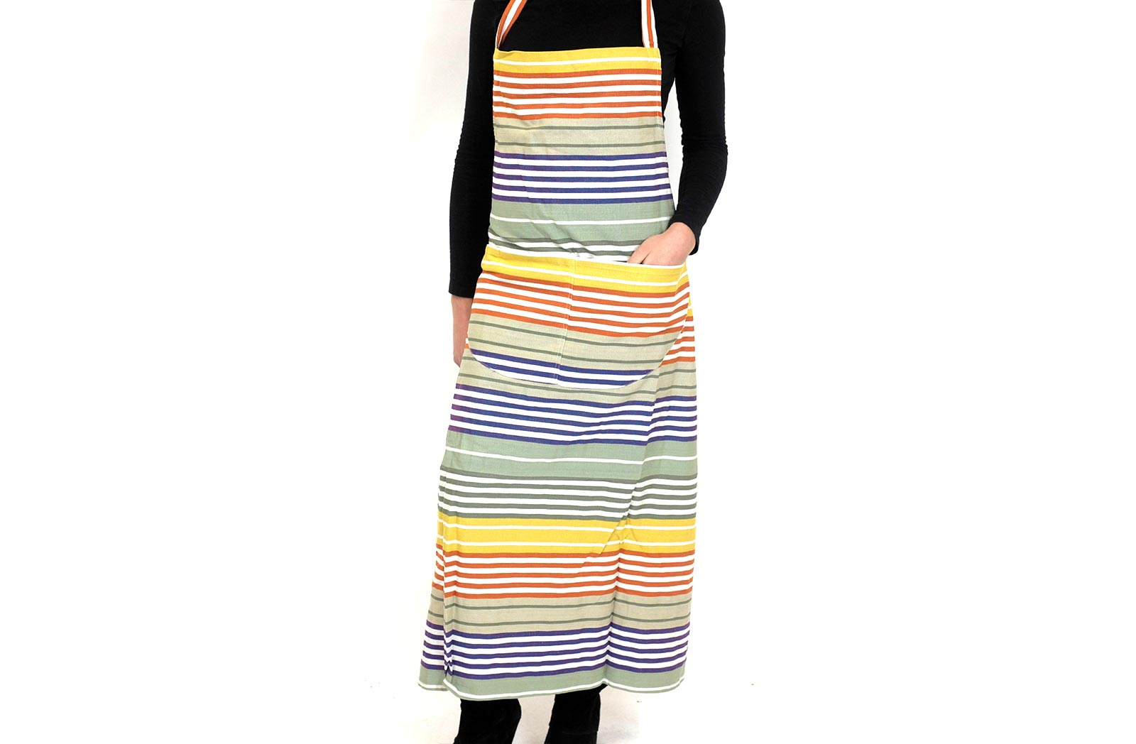 Sage Green Striped Aprons -Boules Stripe