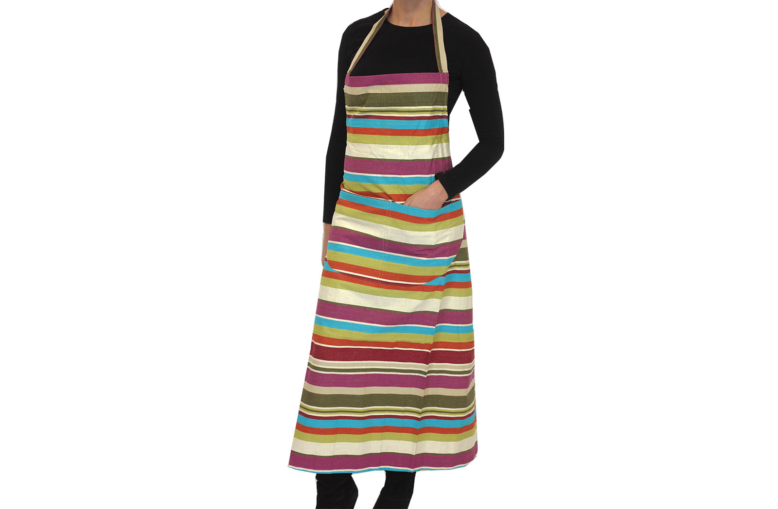 Cream Striped Aprons - Dressage