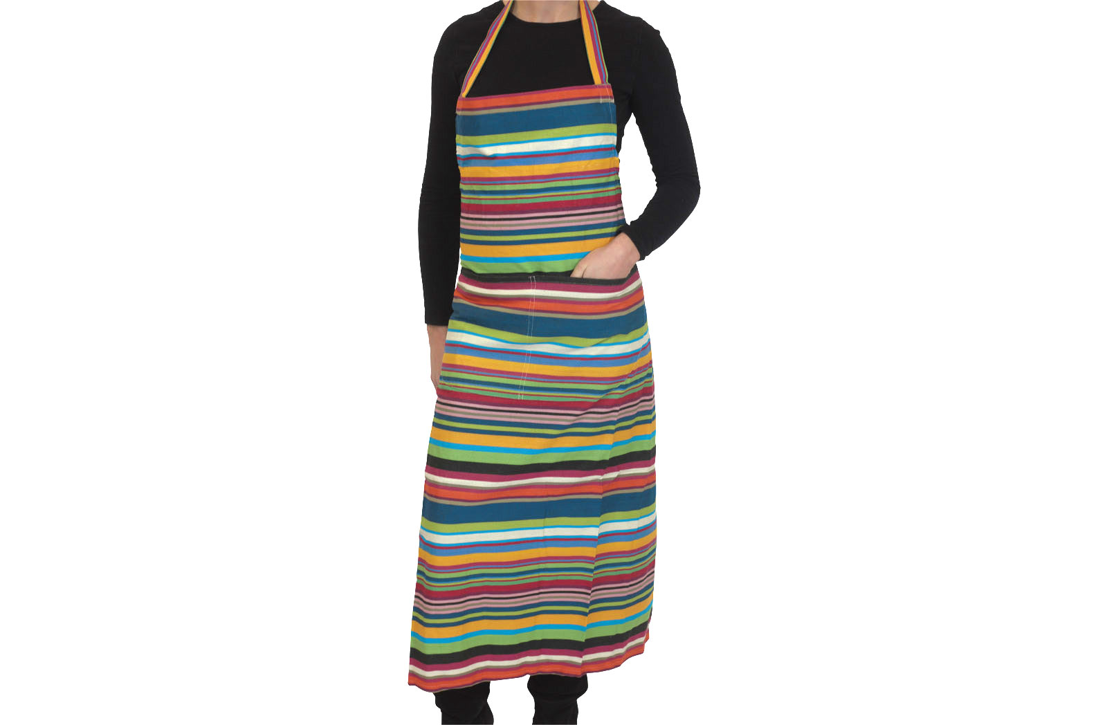 Striped Aprons - Navy, Green, Yellow, Red, White, Black and Pink Stripes