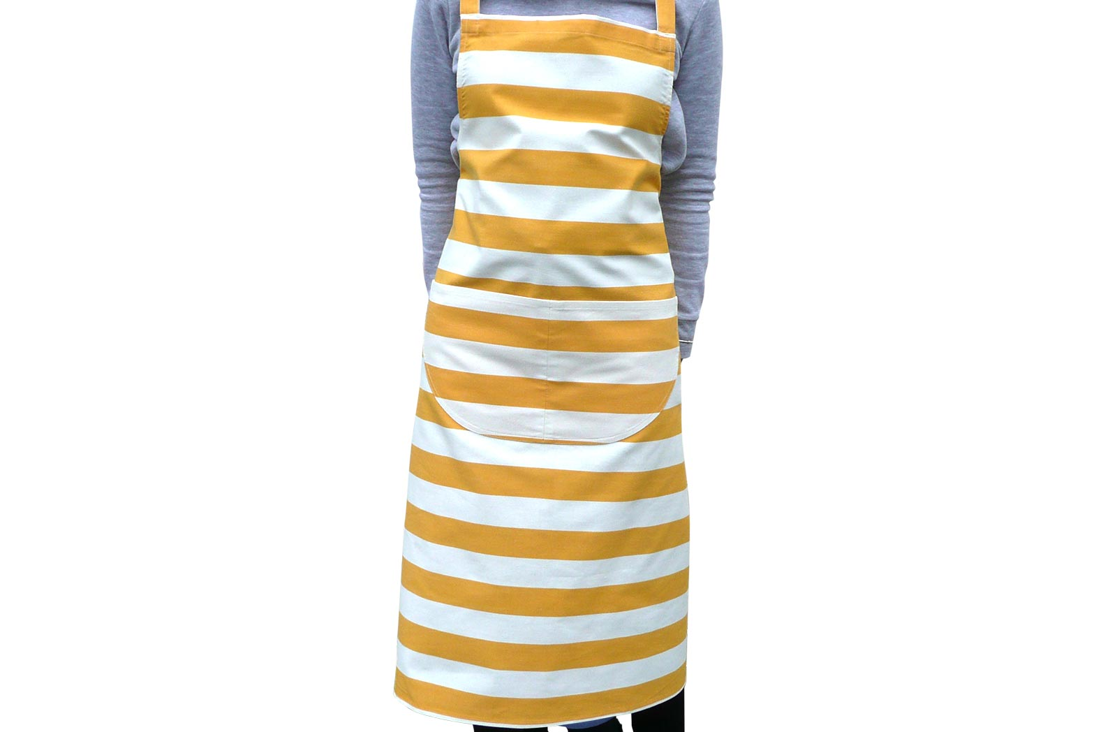 Yellow and White Striped Aprons