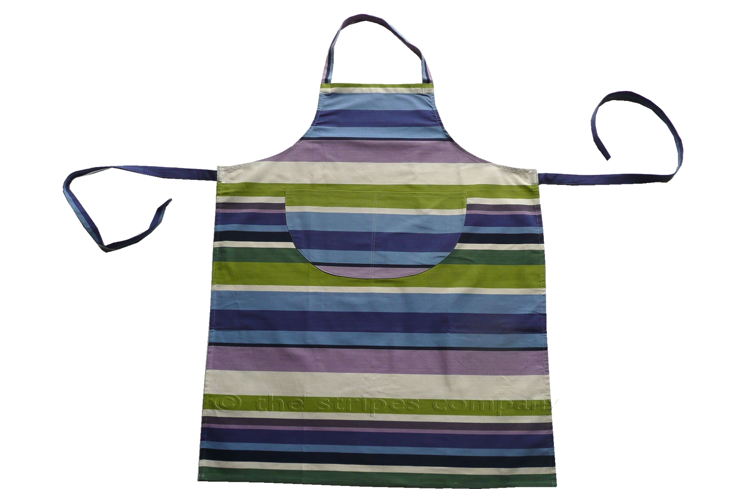 green, blue, purple - Striped Cotton Aprons