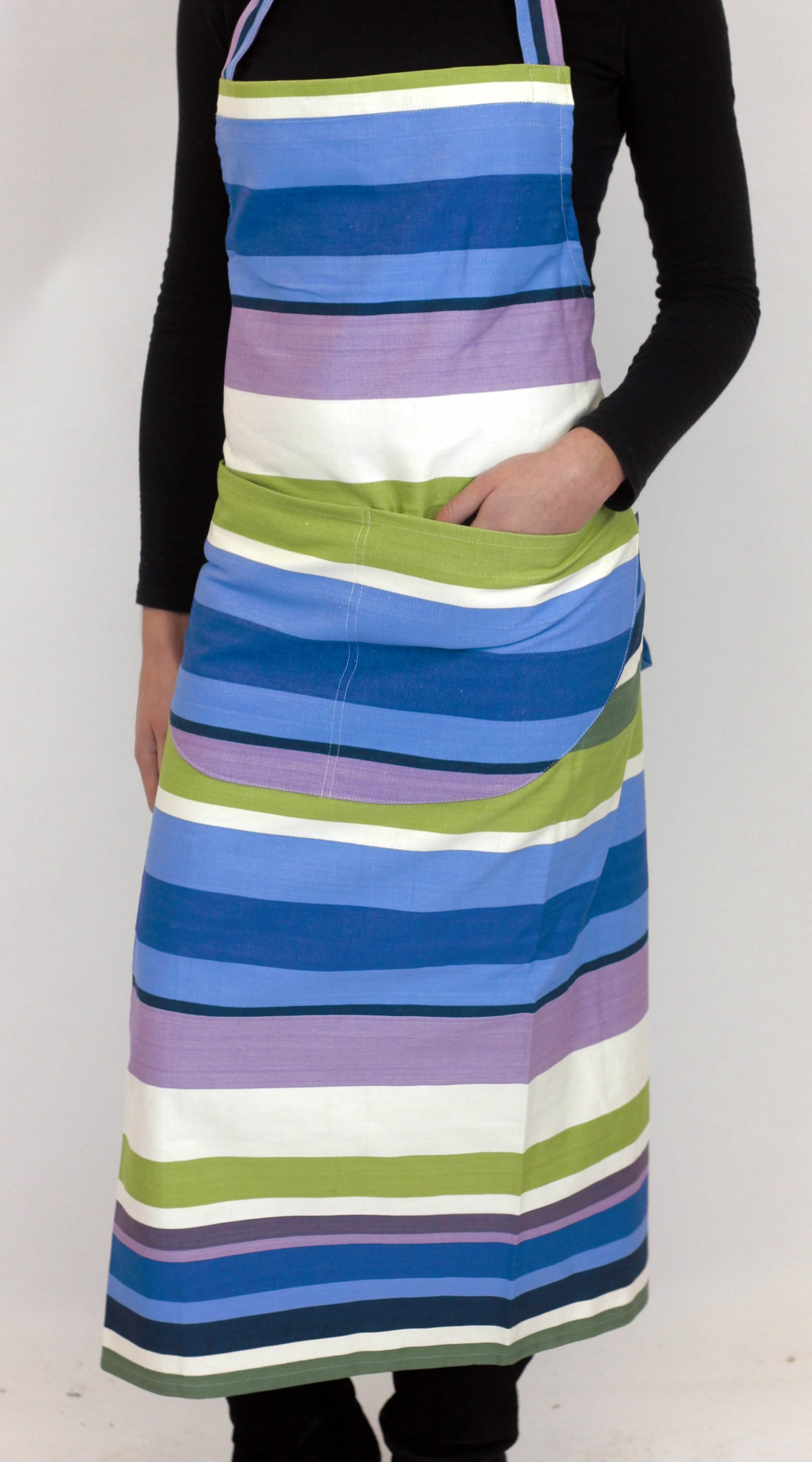 Green Striped Aprons Green  Blue  Purple  Stripes