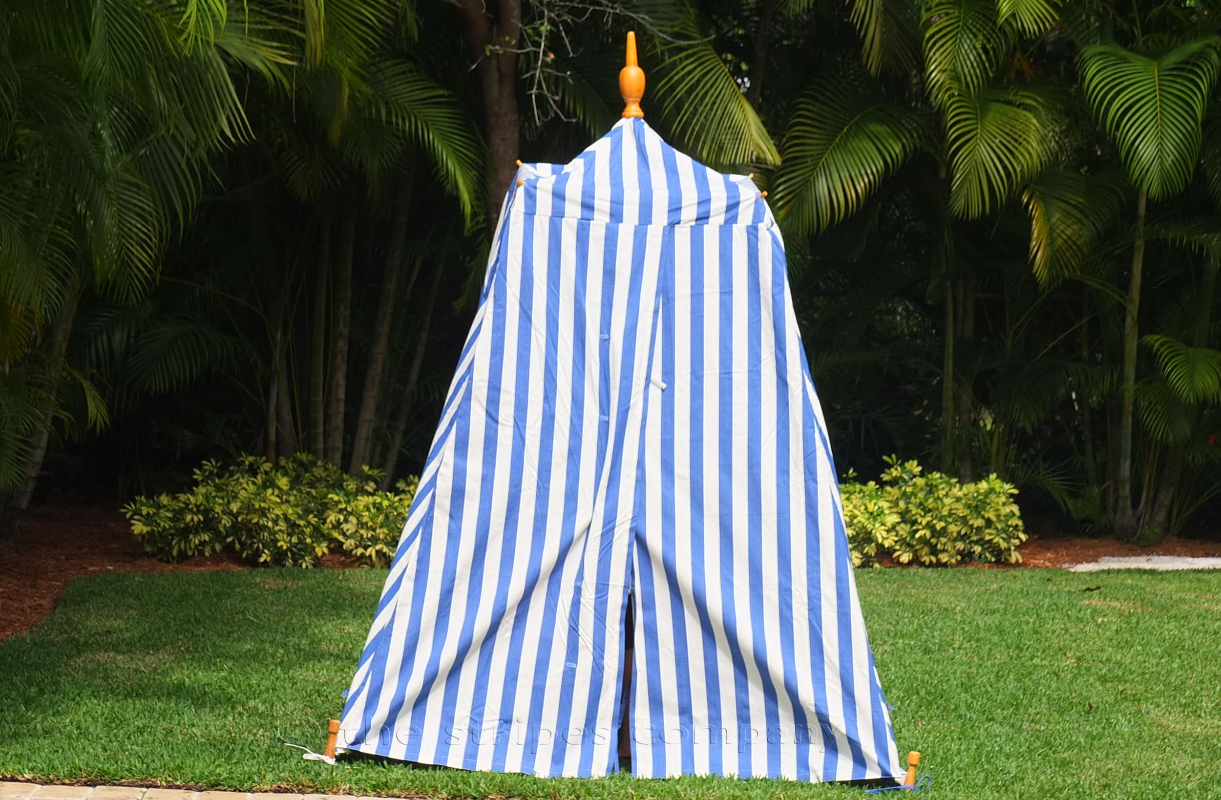 Blue Striped Beach Tents | Empire Bathing Tents in Classic Blue and White Stripes | Soccer Stripe