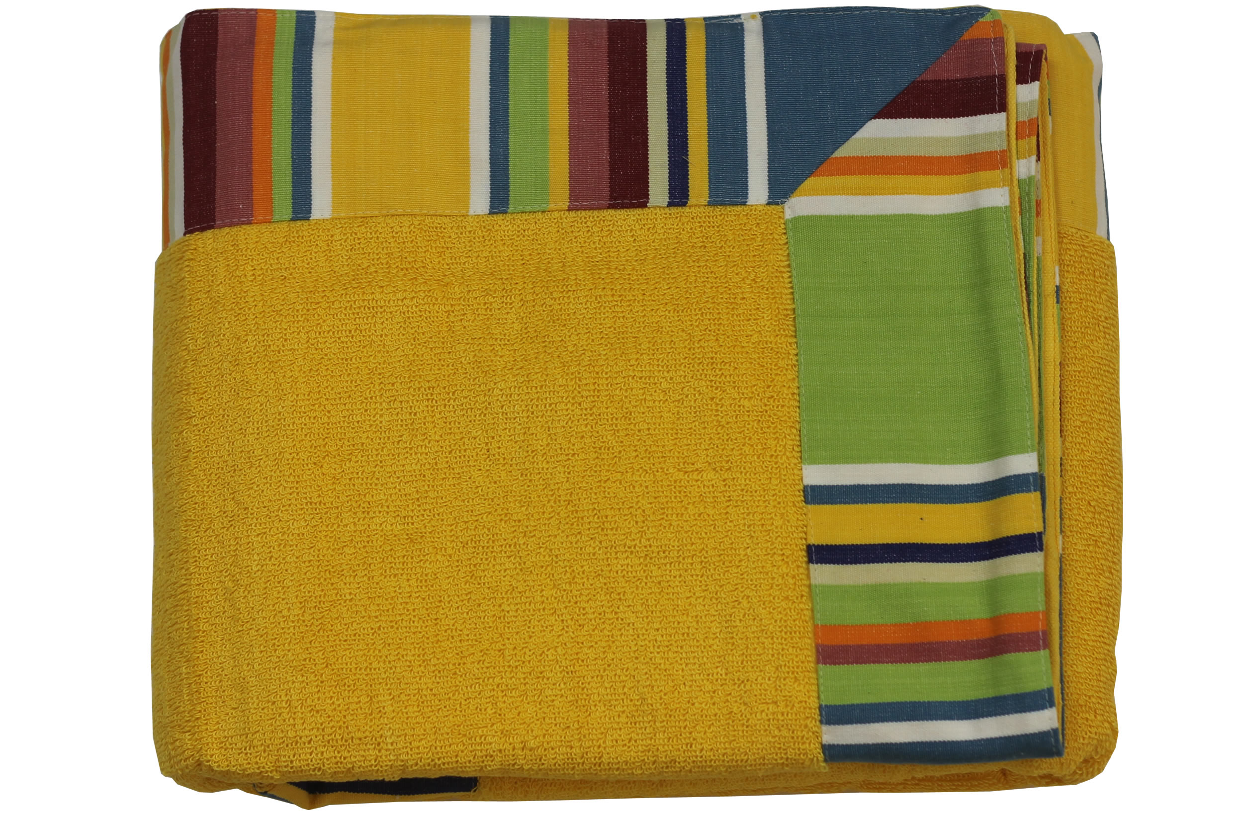 Yellow Extra Large Beach Towels | Extra Large Yellow Beach Towels with Striped Border