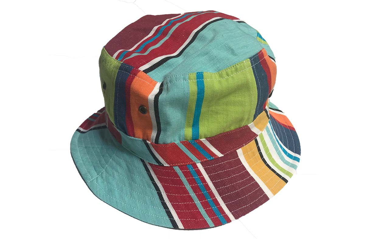 Bright Fun Stripe Bucket Hats