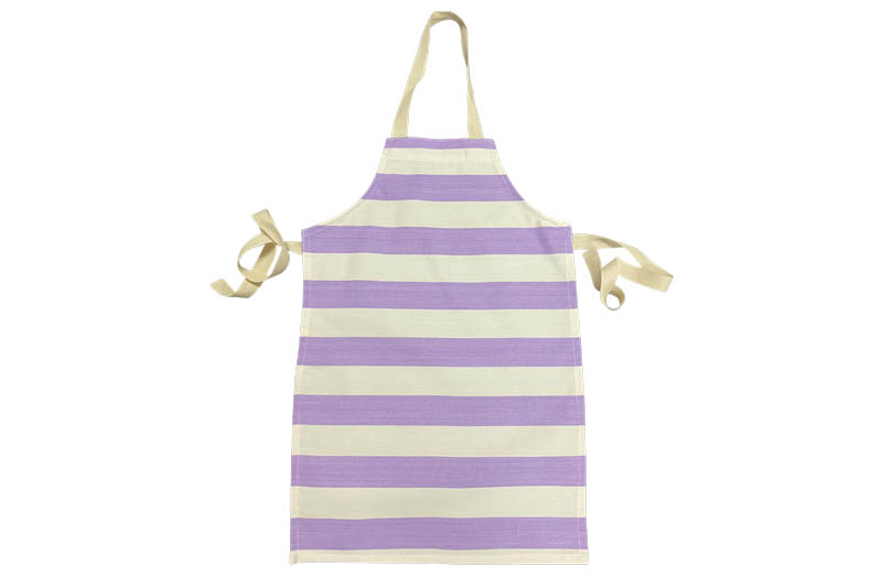 Purple and White Striped Childrens Aprons
