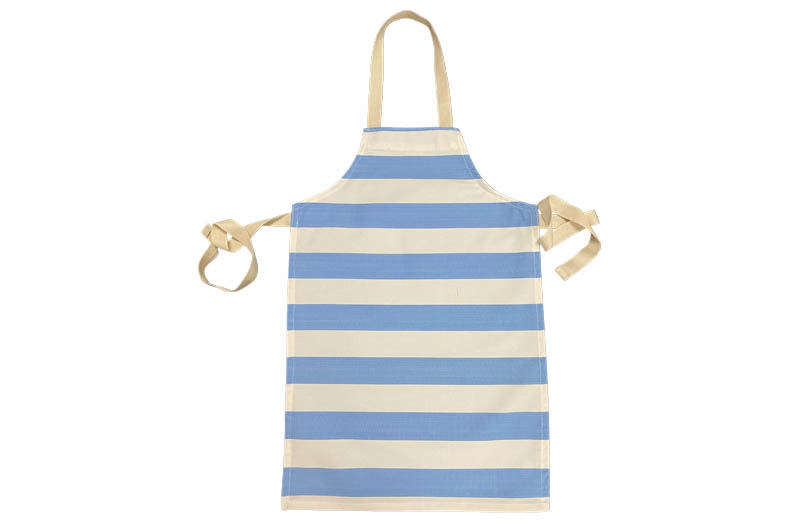 Sky Blue and White Striped Childrens Aprons