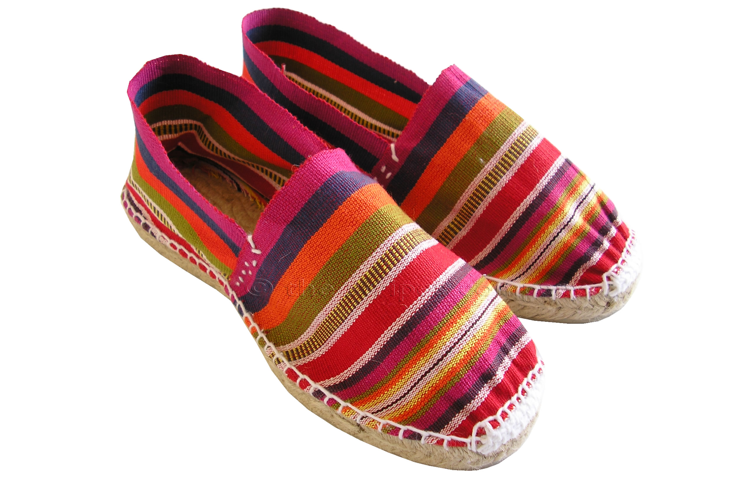 Pink Striped Espadrilles | Pink Navy Multi Stripe Espadrille Shoes Size 37