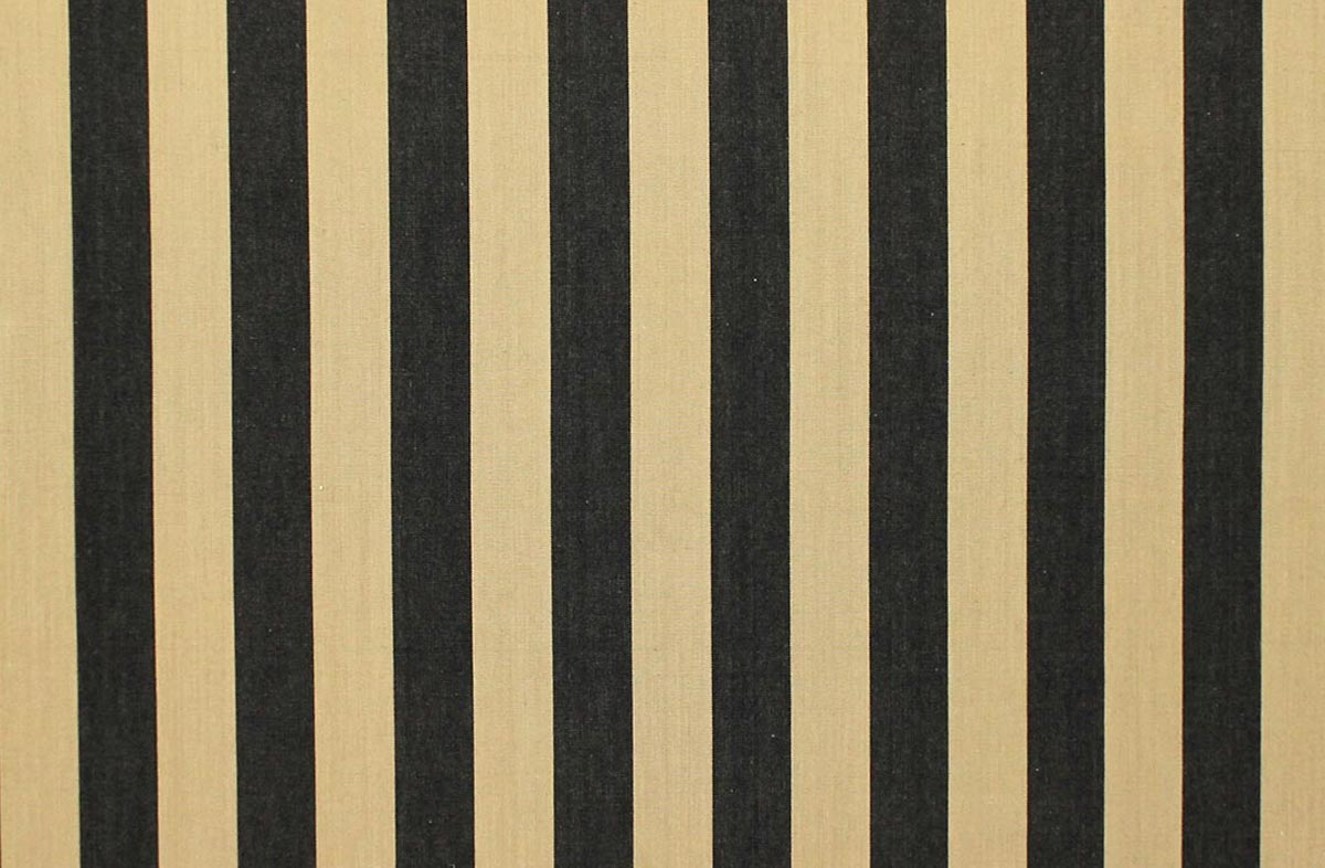 Black Striped Fabrics | Stripe Cotton Fabrics | Striped Curtain Fabrics | Upholstery Fabrics  Baton Stripes