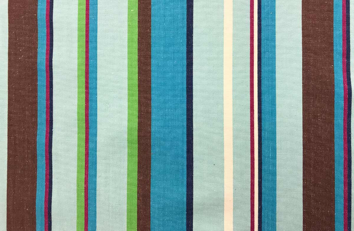 turquoise, pale blue, brown - Striped Fabrics | Stripe Cotton Fabrics | Striped Curtain Fabrics | Upholstery Fabrics