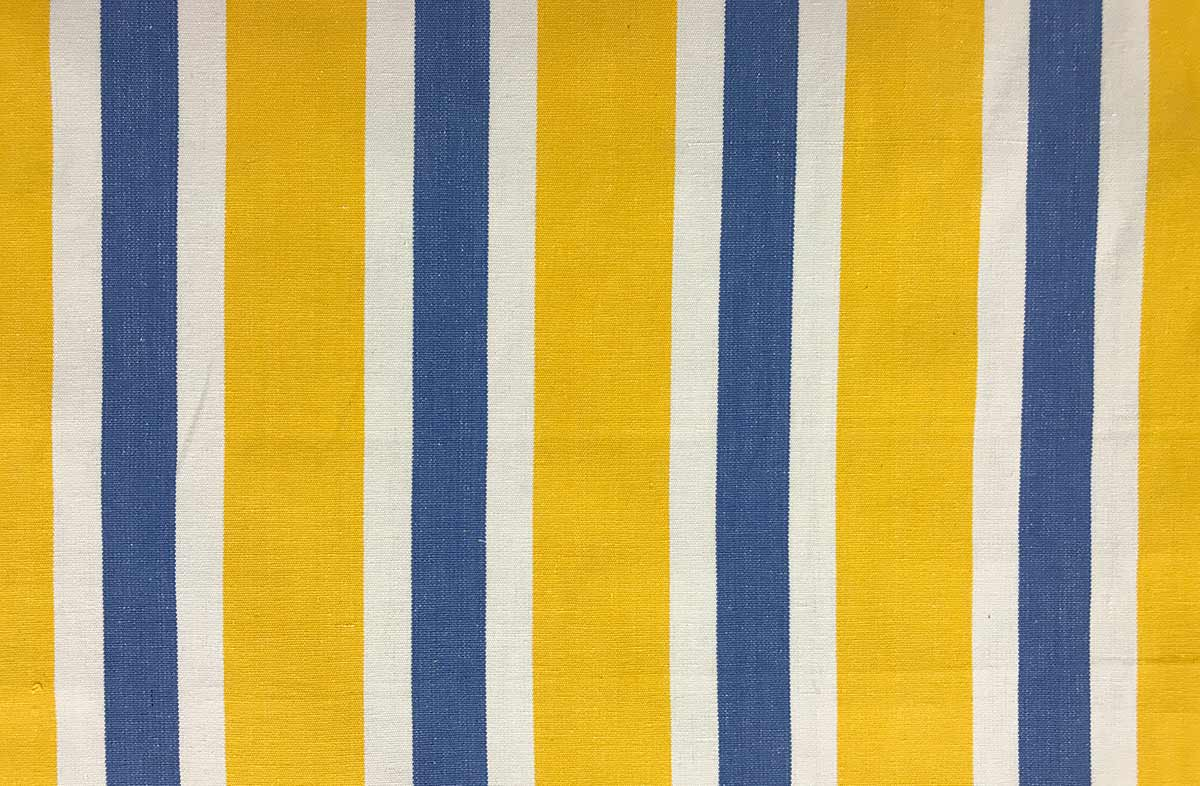 Yellow Blue And White Striped Fabric The Stripes Company Uk