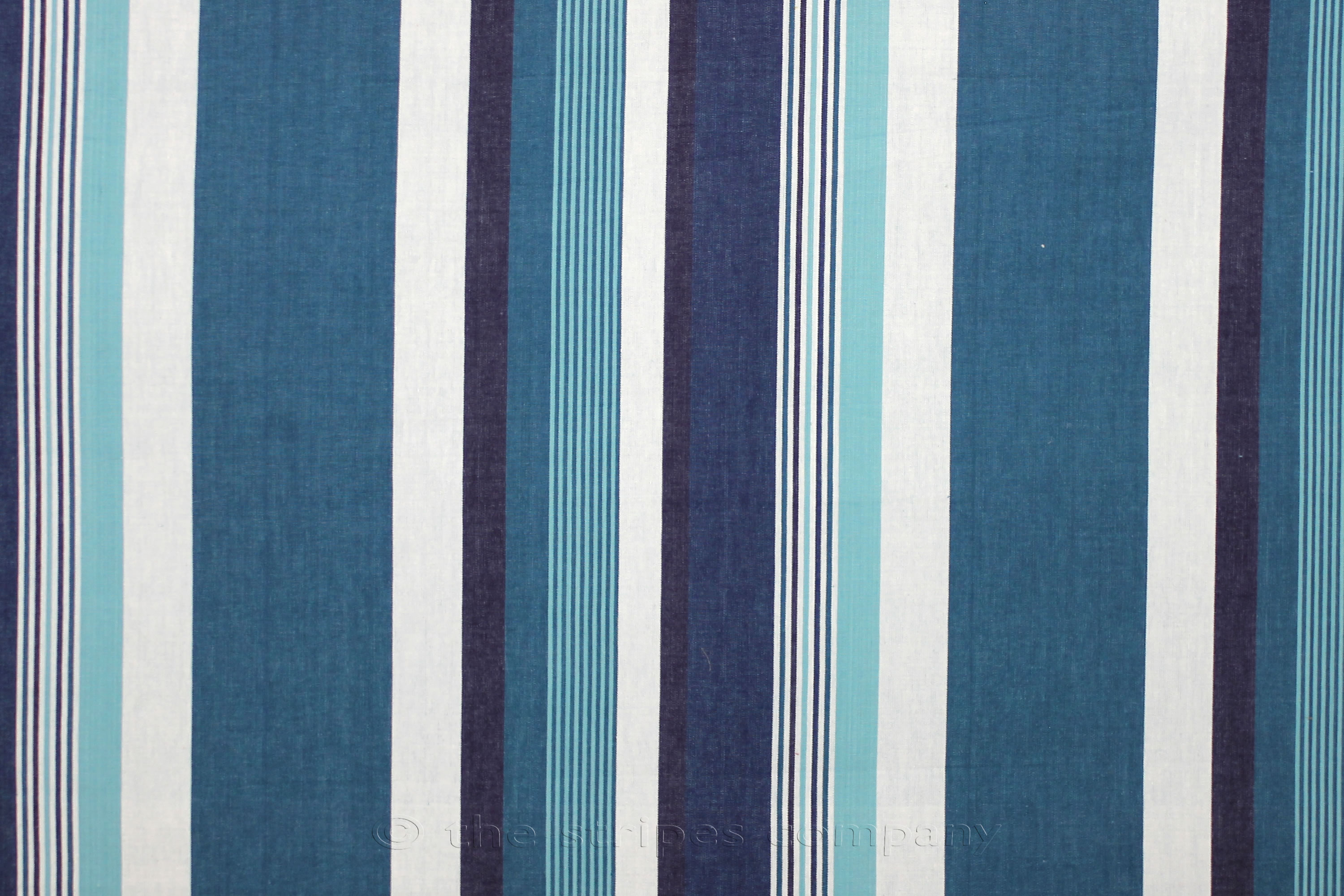 Teal Striped Fabrics Stripe Cotton Curtain Upholstery Swing Stripes