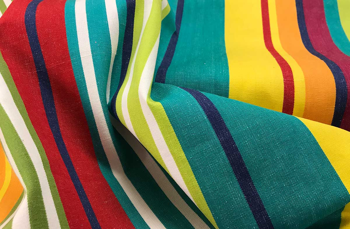 Turquoise Striped Fabrics | Stripe Cotton Fabrics - Aerobics Stripe
