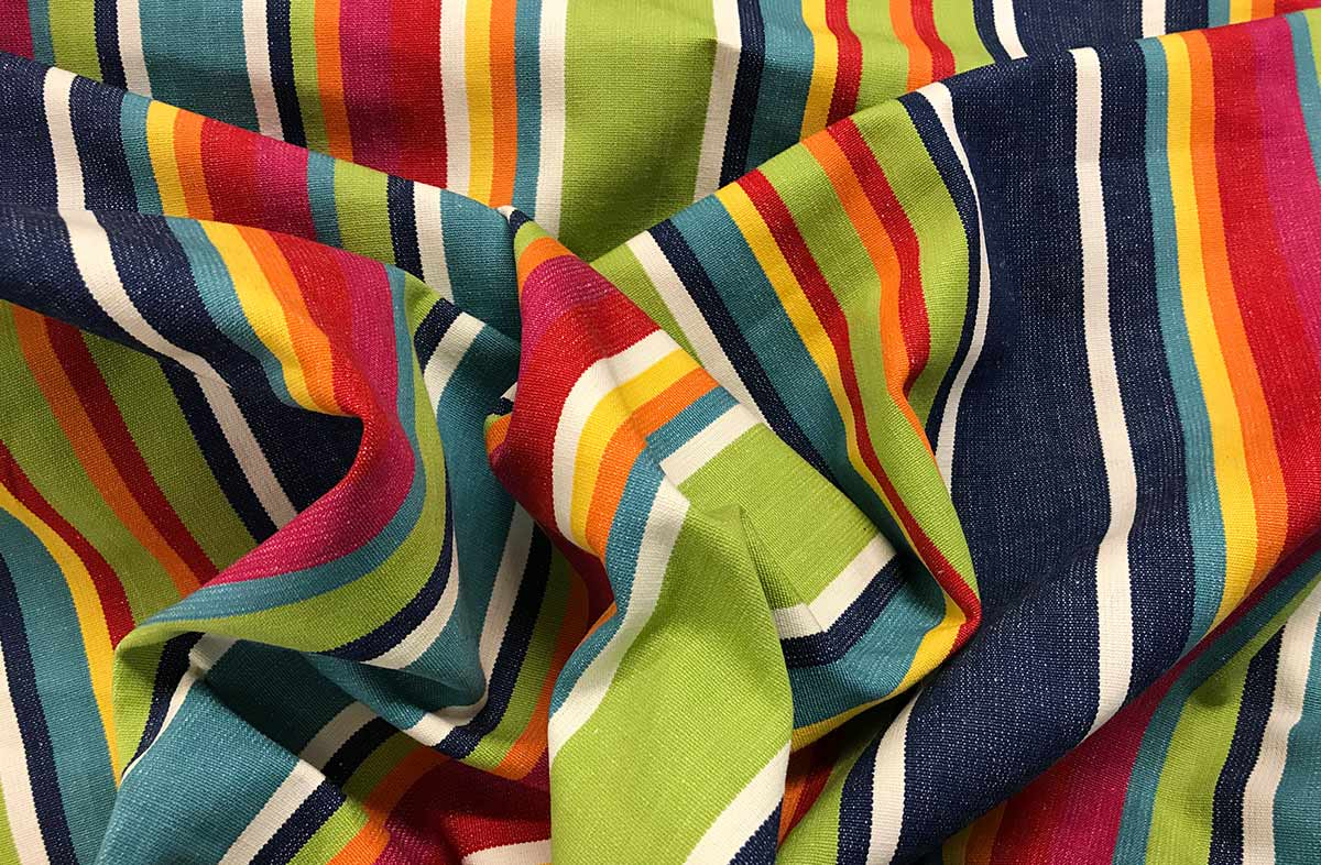 Rainbow Striped Fabrics | Striped Curtain Fabric - Climbing Stripes