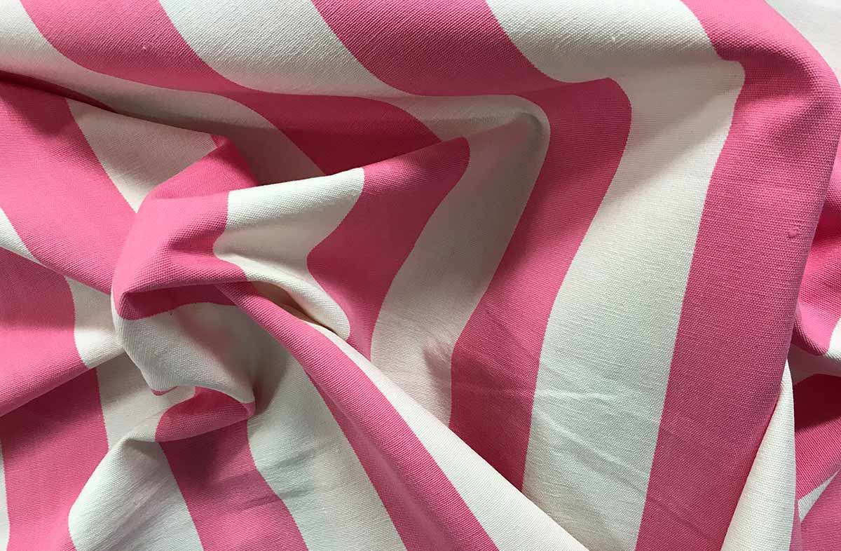 Pink Striped Fabrics | Pink Stripe Cotton Fabrics | Discus Stripes