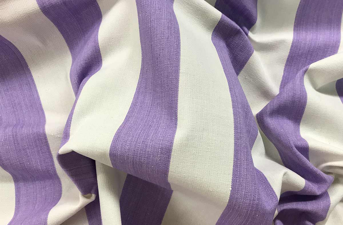 Lilac Striped Fabrics | Striped Curtain Fabrics - Eventing Stripes