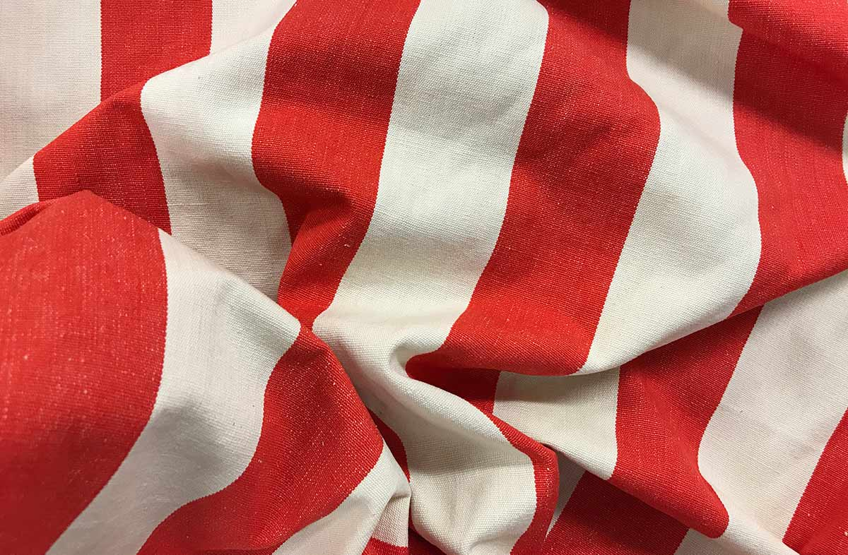 Red and White Striped Fabrics | Striped Curtain Fabrics | Upholstery Fabrics  Red White Stripes