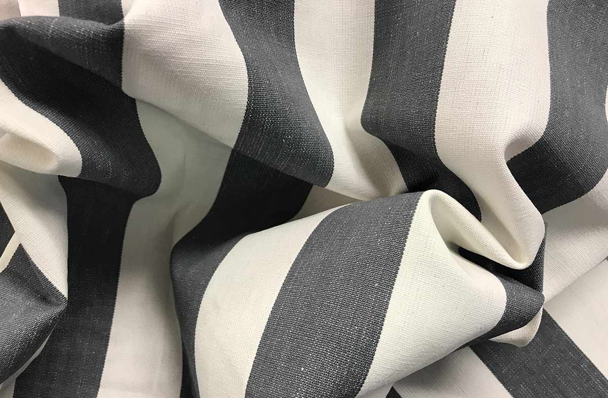 Grey Striped Fabrics - Hurdling Stripe