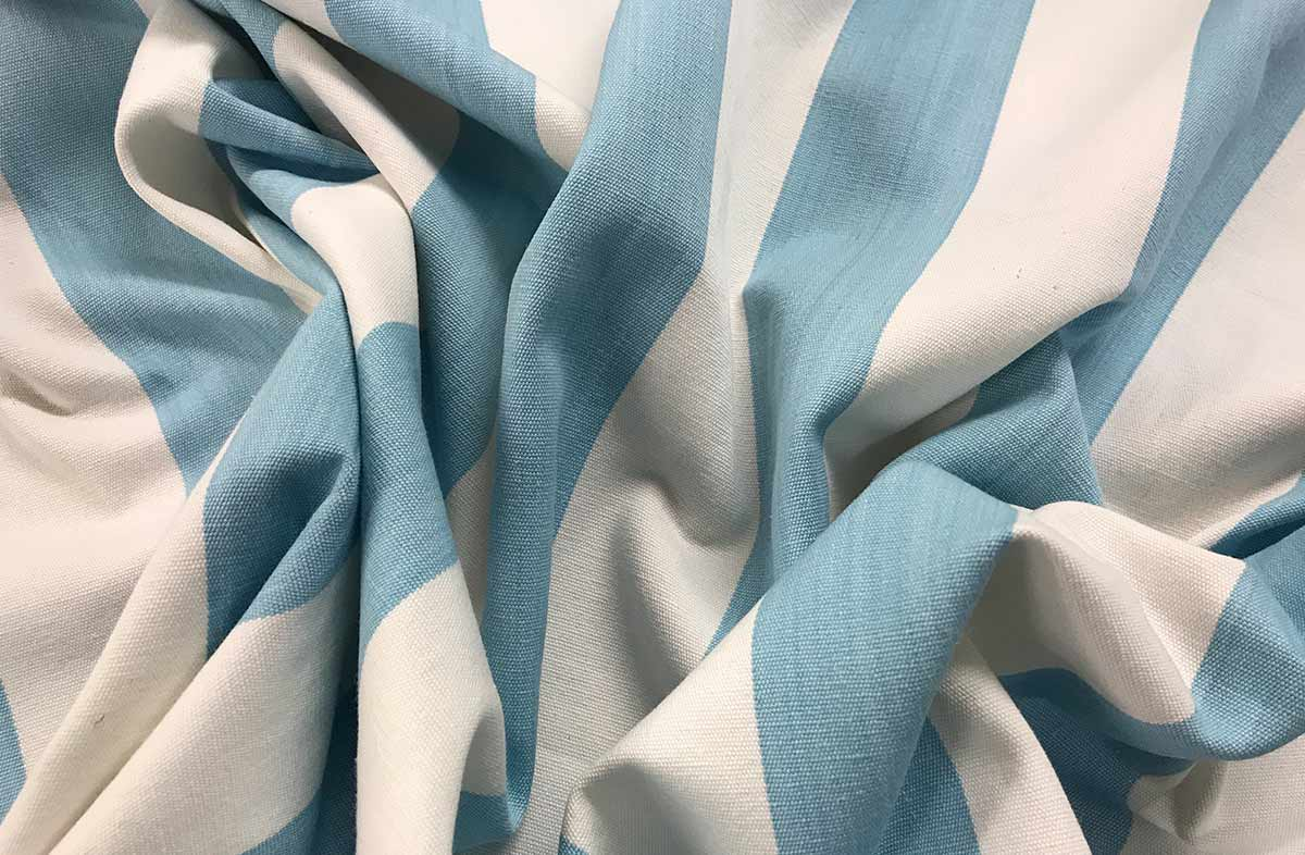 Javelin Pale Blue Striped Fabric