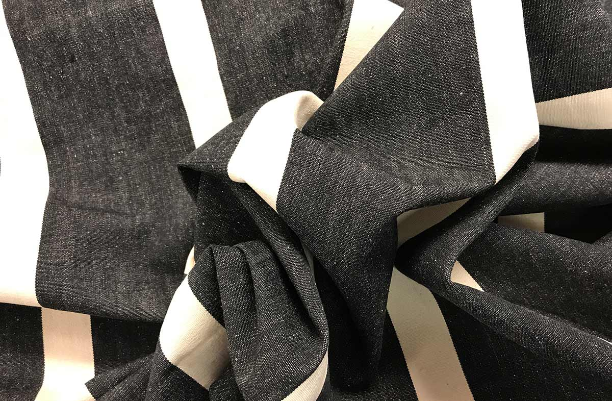 Judo Black Striped Fabric