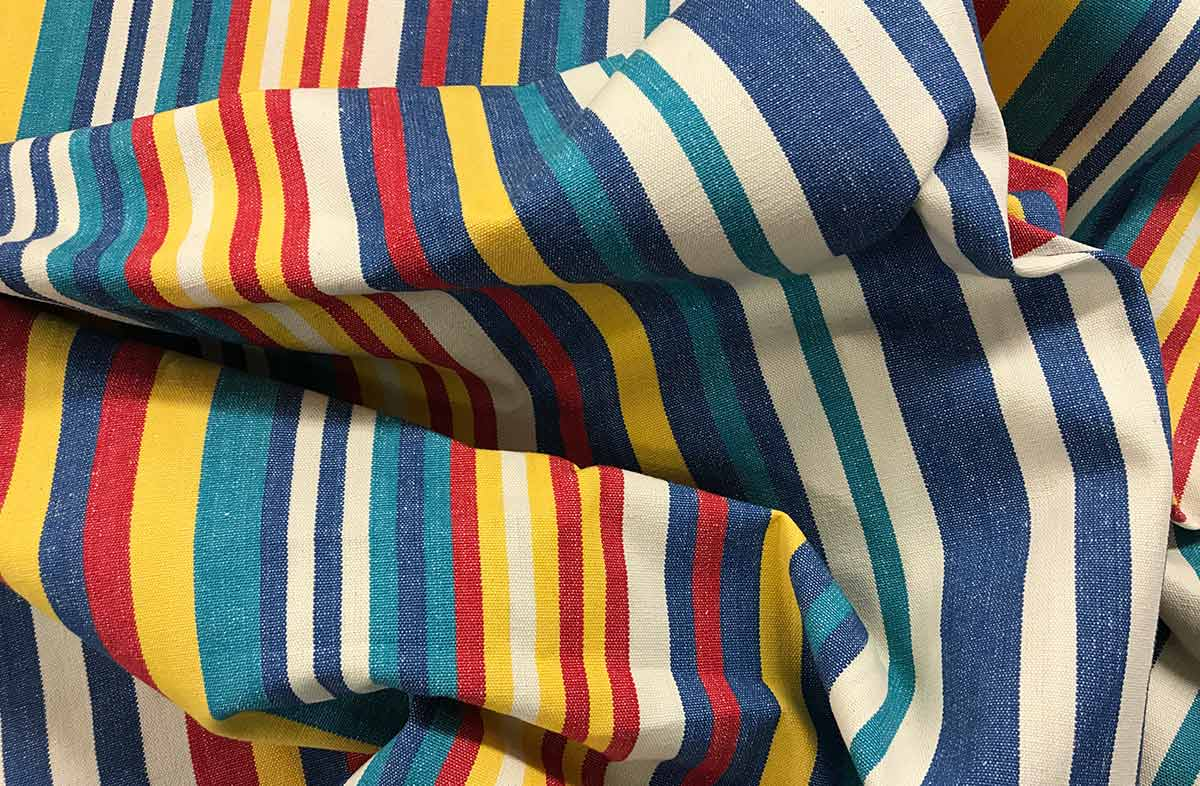Denim Blue Striped Fabrics | Stripe Cotton Fabrics | Marathon Stripes
