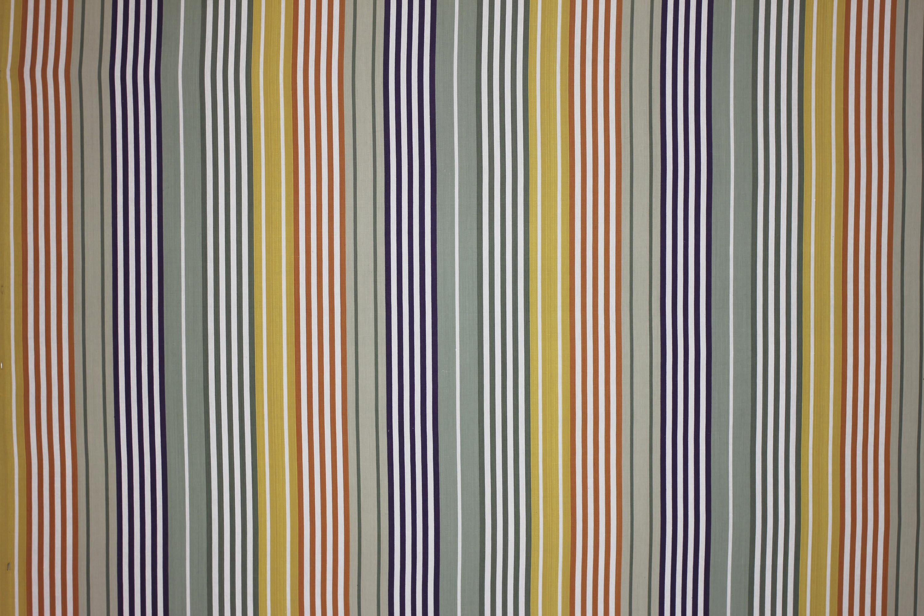 Sage Green Striped Oilcloth Fabrics | Wipeable Stripe Fabrics - Boules Stripe