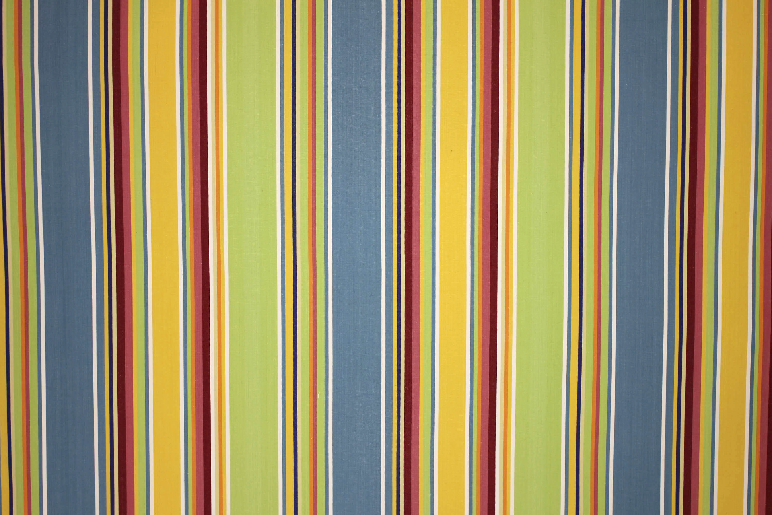 Yellow Striped Fabrics | Curtain Upholstery Fabrics - Cricket Yellow Stripes