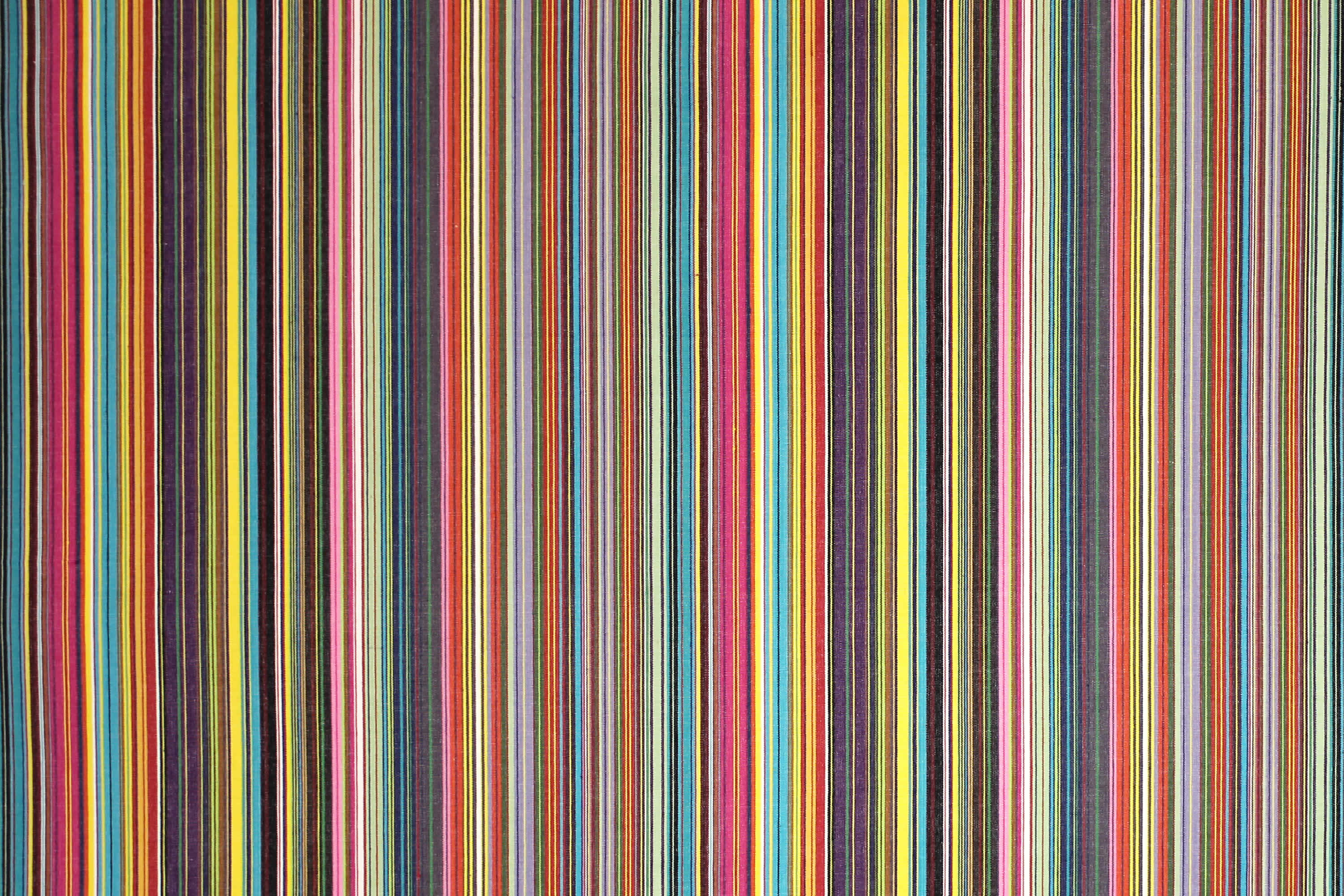 Thin Rainbow Multi Stripes  Striped Fabrics | Stripe Cotton Fabrics | Striped Curtain Fabrics | Upholstery Fabrics  Mahjong Stripes