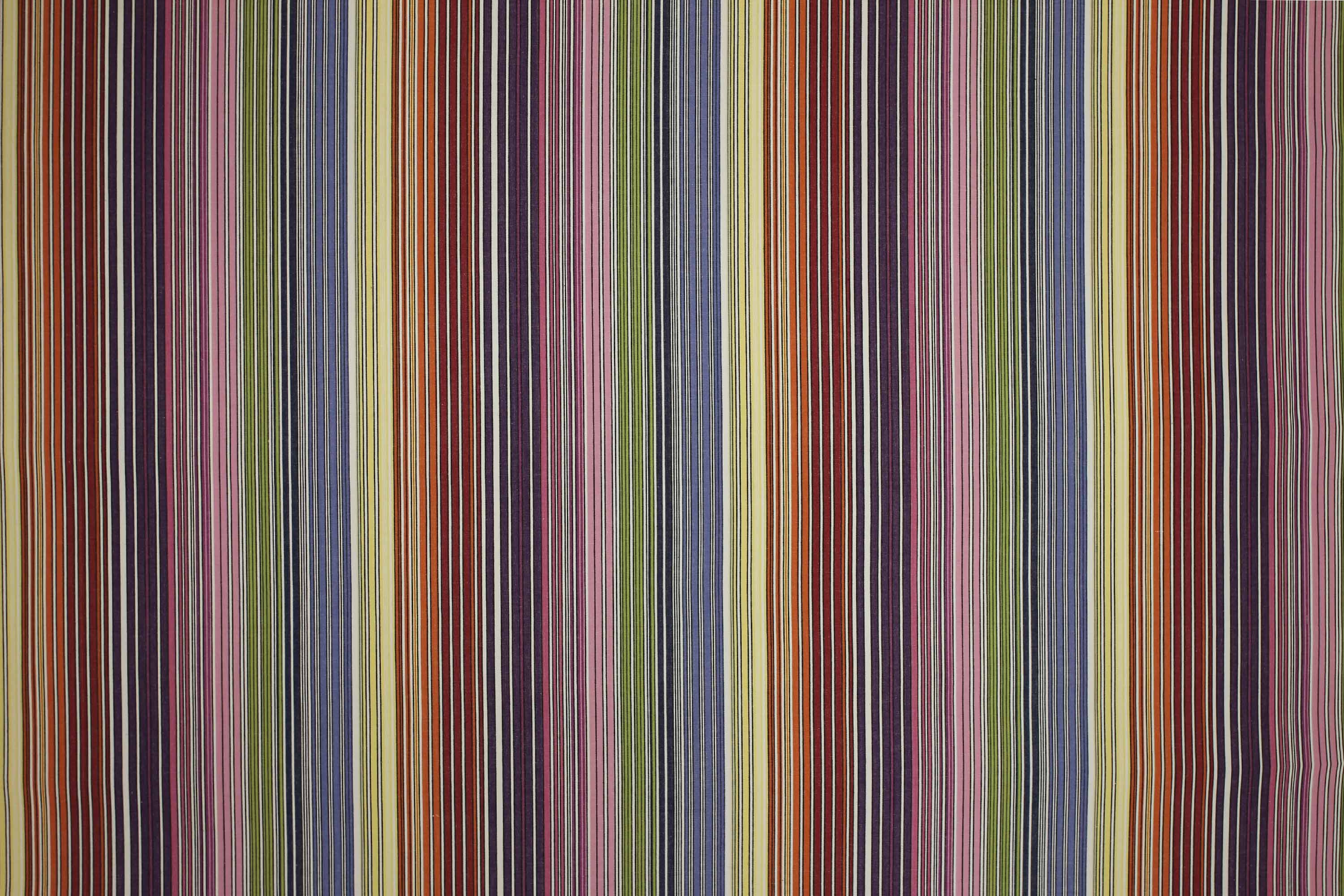 Rainbow and White Striped Fabrics | Stripe Fabrics | Striped Curtain Fabrics | Upholstery Fabrics | Rhumba Stripe