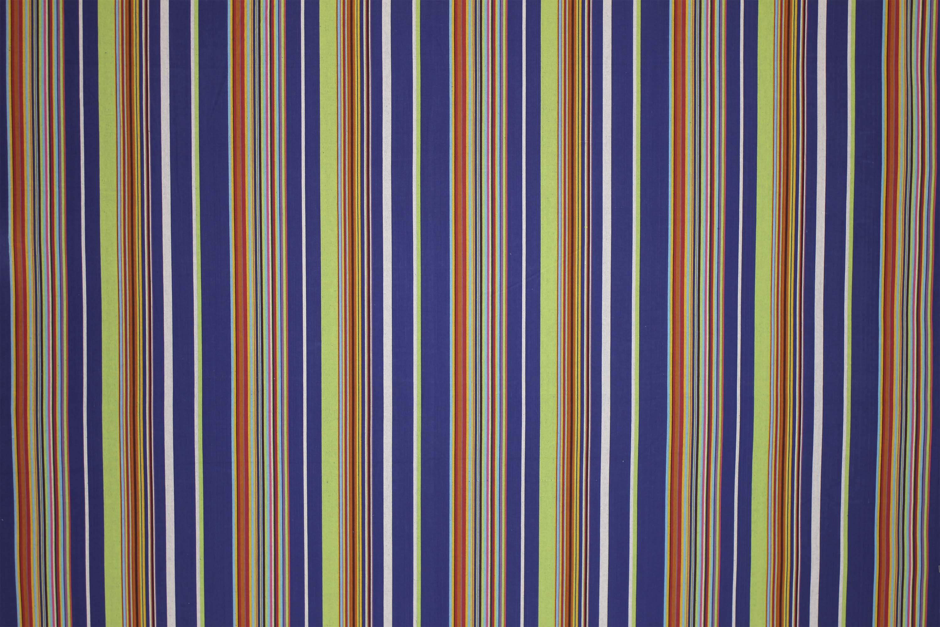 Rowing Royal Blue Striped Fabric