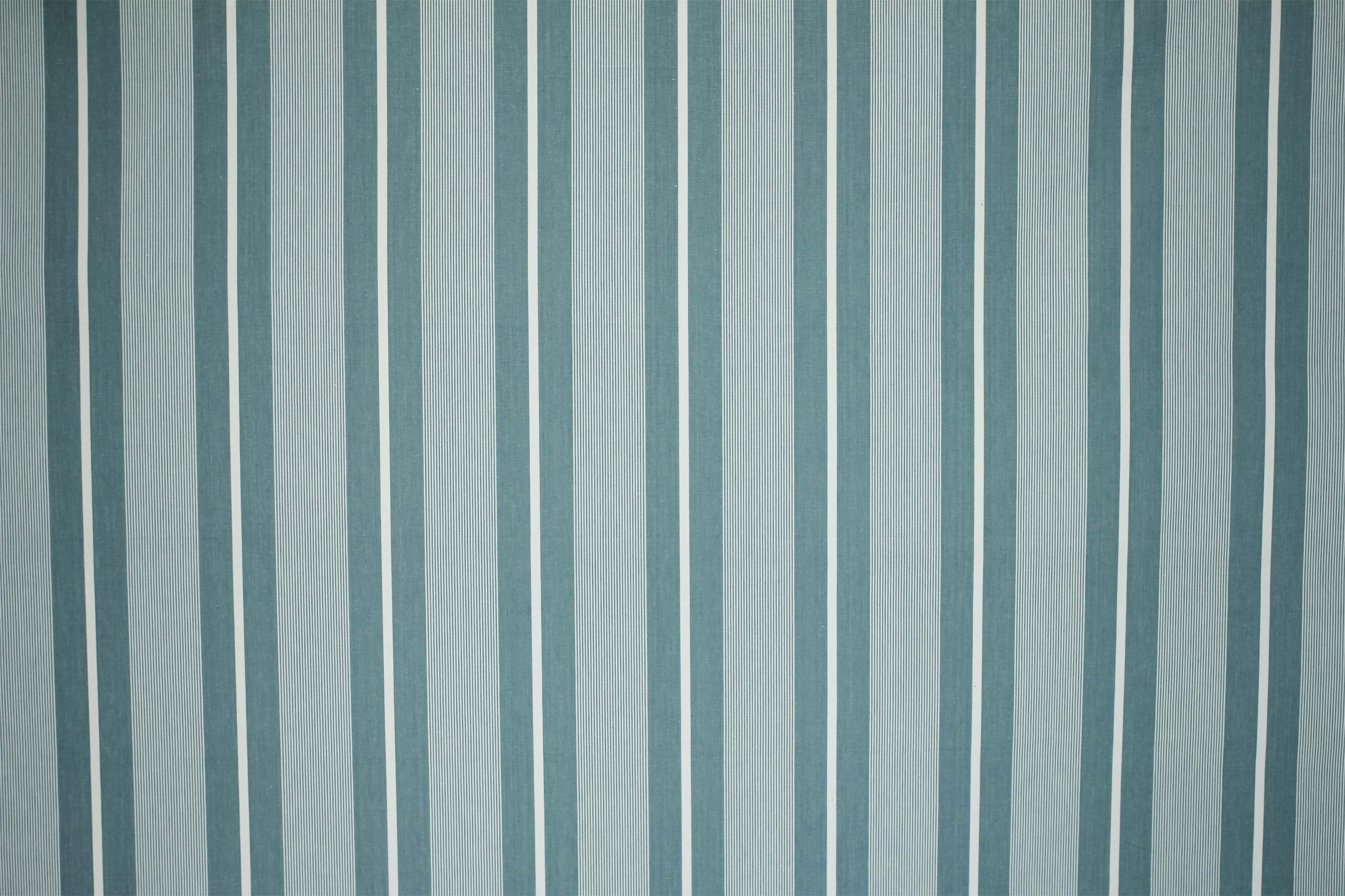 Pale Teal Striped Fabrics | Stripe Cotton Fabrics | Striped Curtain Fabrics | Upholstery Fabrics  Sevens Teal Stripes