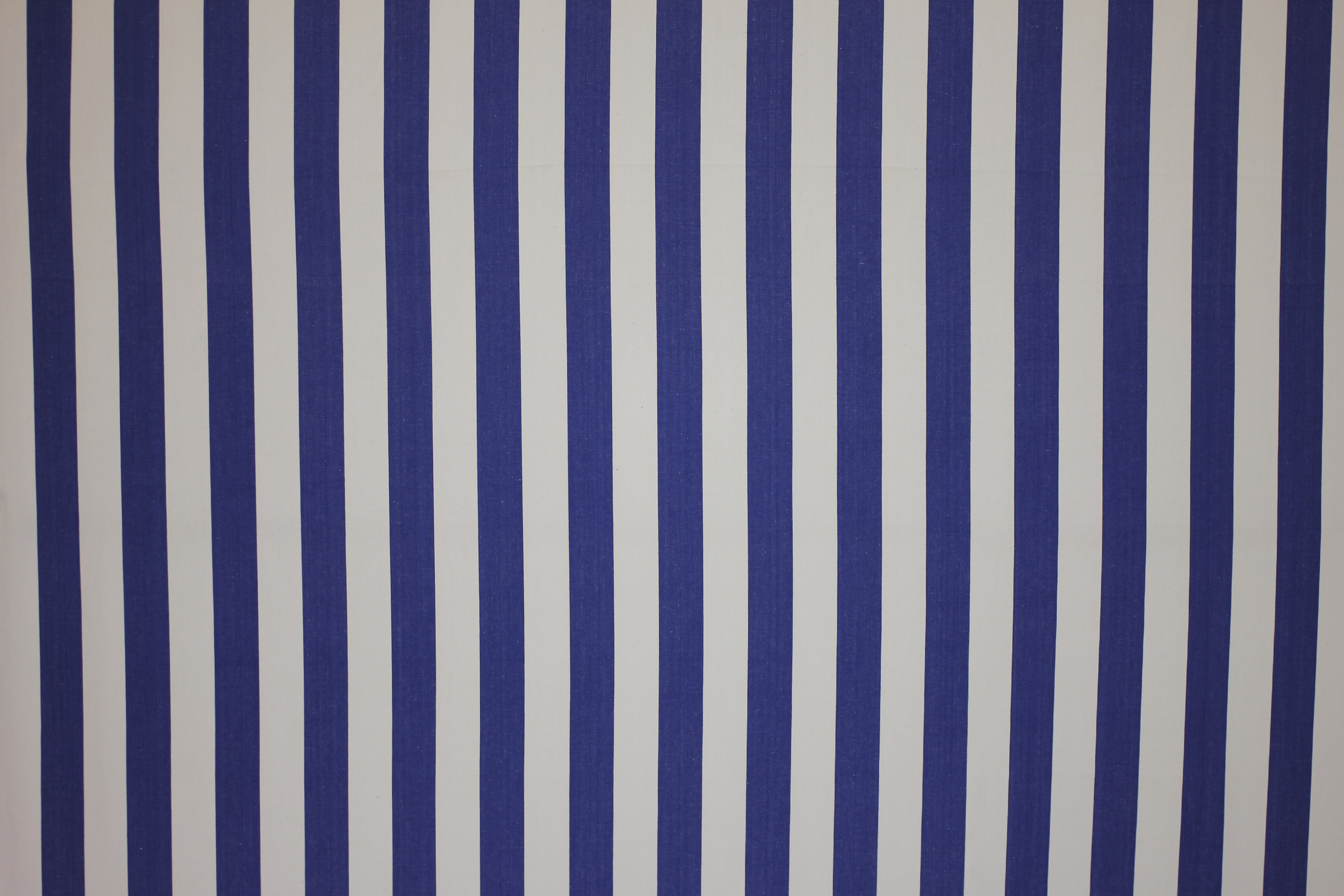 Blue and White Striped Upholstery Fabric | Blue and White Stripe Curtain Fabric | Soccer Stripe