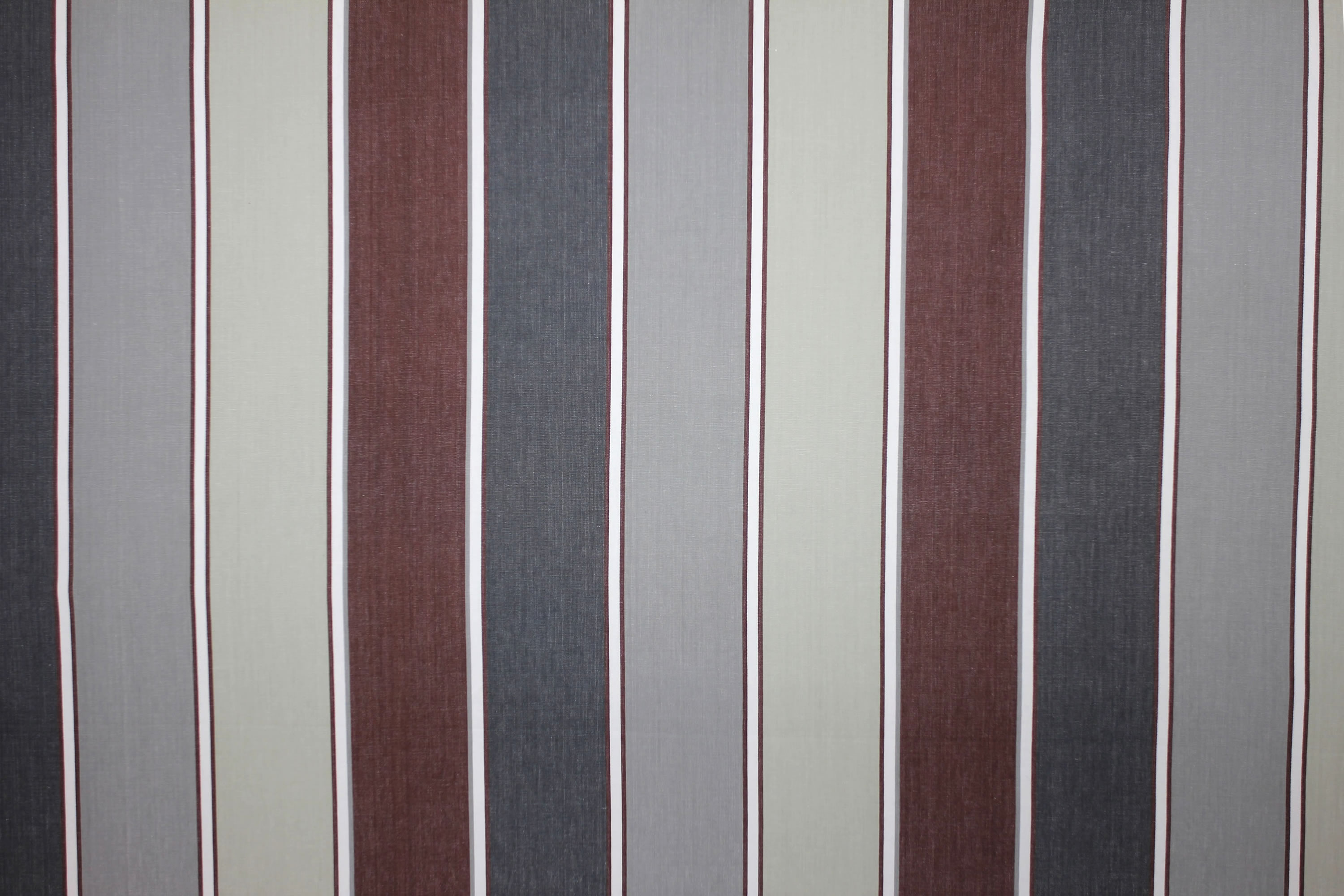 Striped Upholstery Fabric Shades of Grey | Striped Curtain Fabric Greys | Tobogganing Stripe