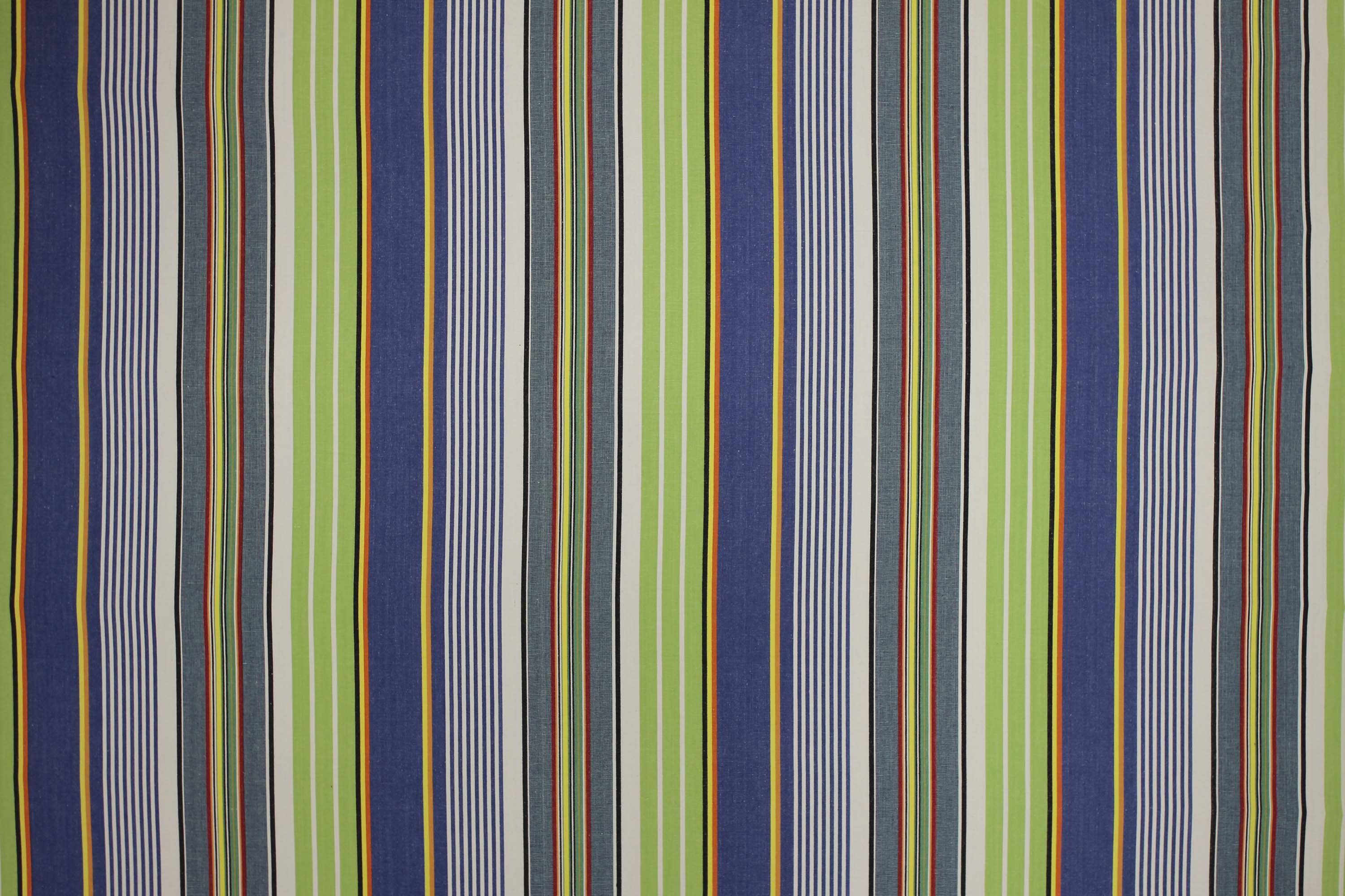 Striped Fabrics | Stripe Fabrics | Striped Curtain Fabrics | Upholstery Fabrics | Interior Stripes bright blue, denim blue, lime green