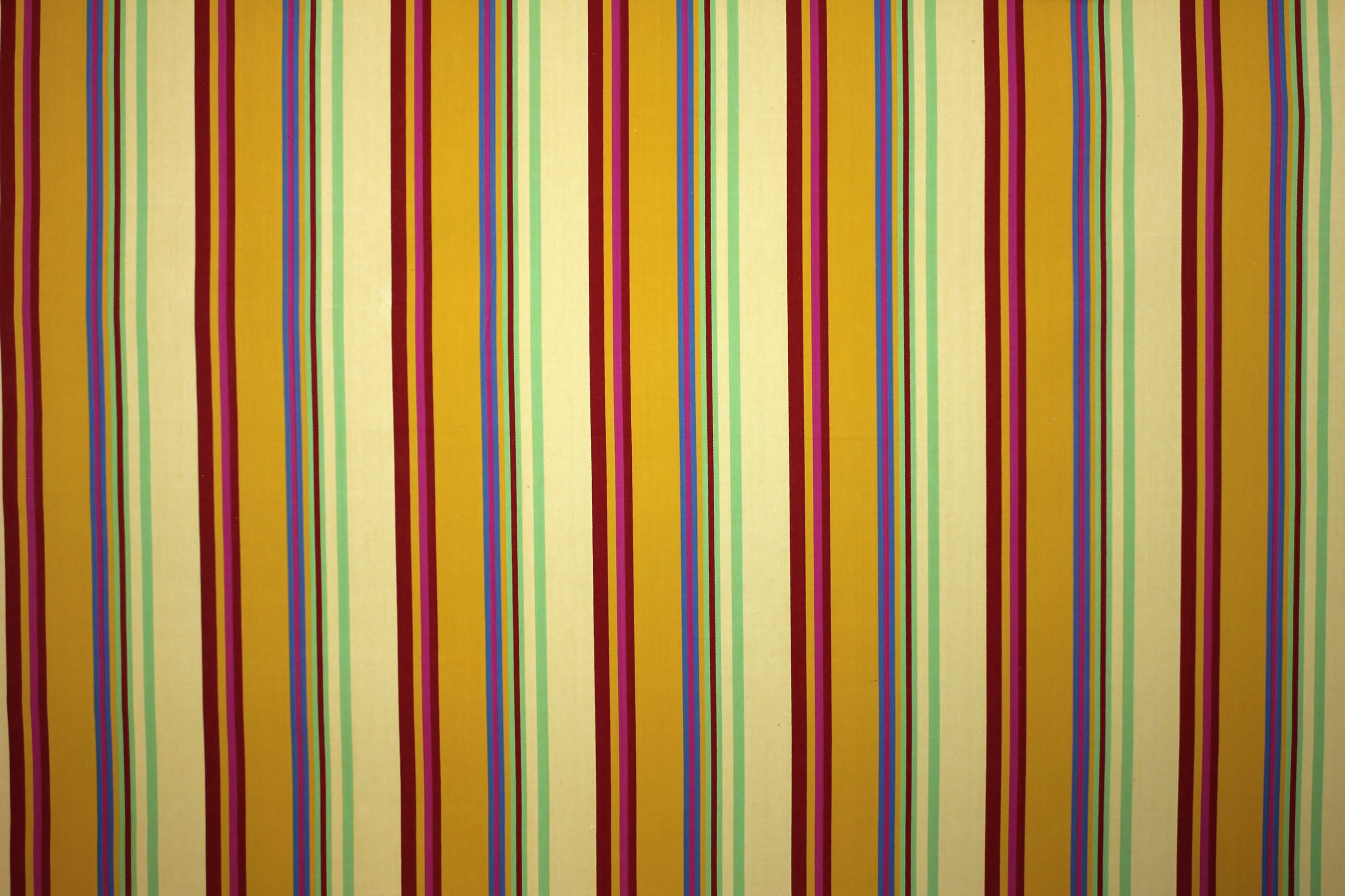 Pale Yellow Striped Fabrics | Stripe Cotton Fabrics | Striped Curtain Fabrics | Upholstery Fabrics  Volleyball Stripes