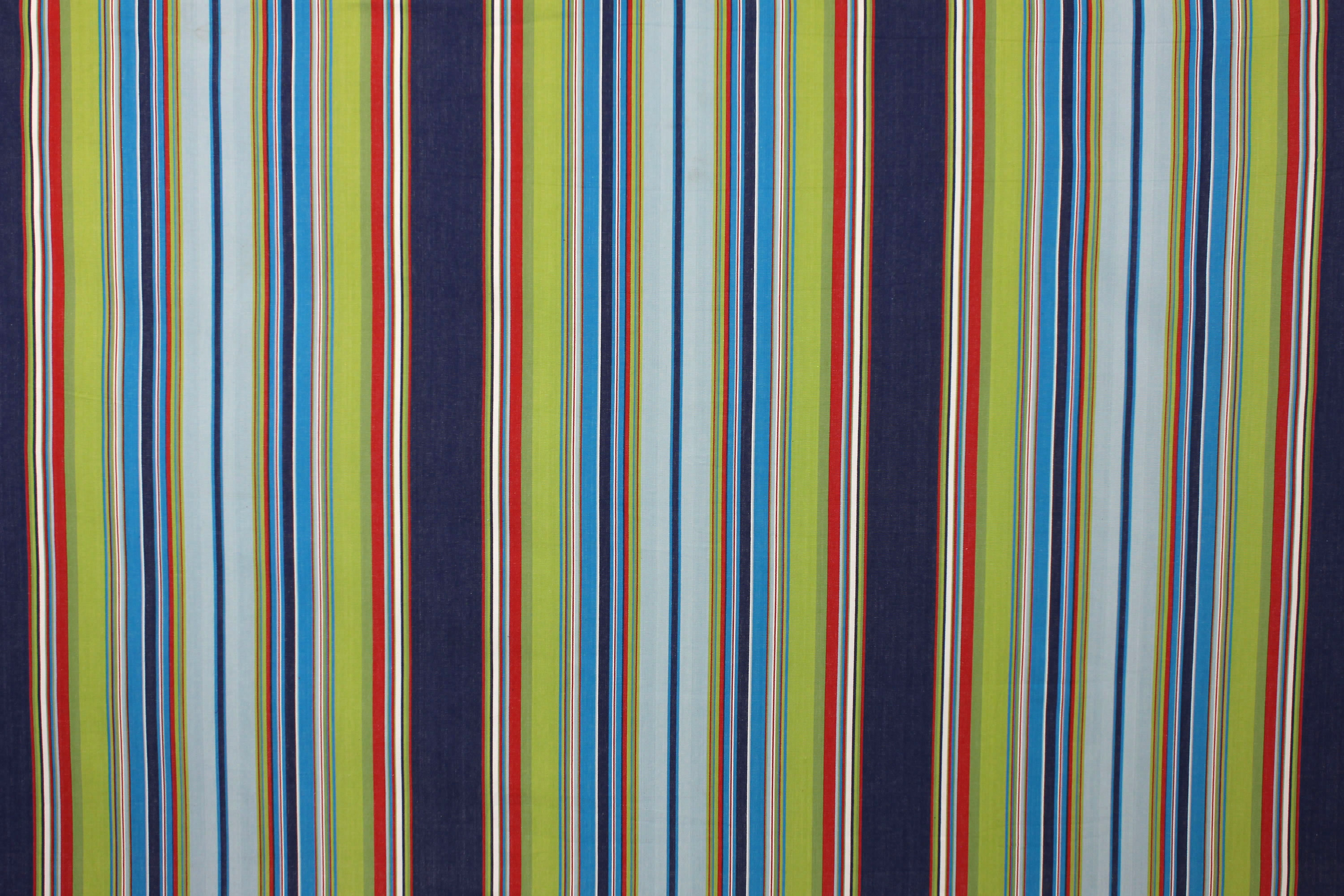 Navy Blue Striped Fabrics | Seaside Stripe Cotton Fabrics - Water Polo Stripes