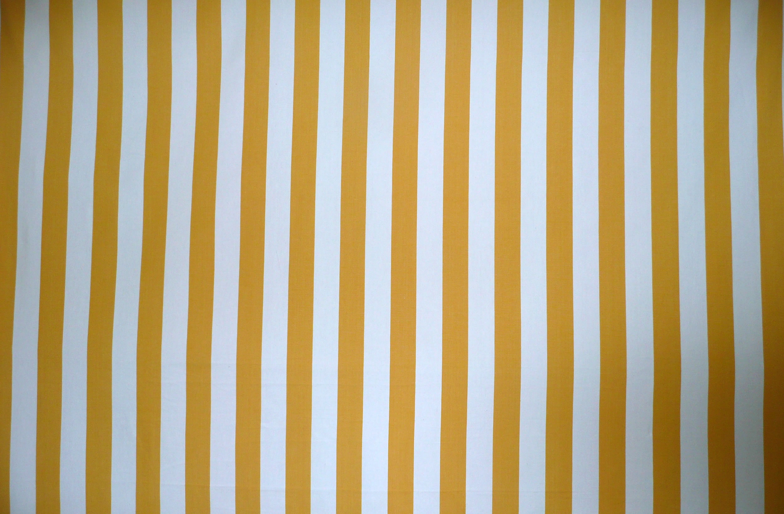 Yellow And White Striped Curtain Material