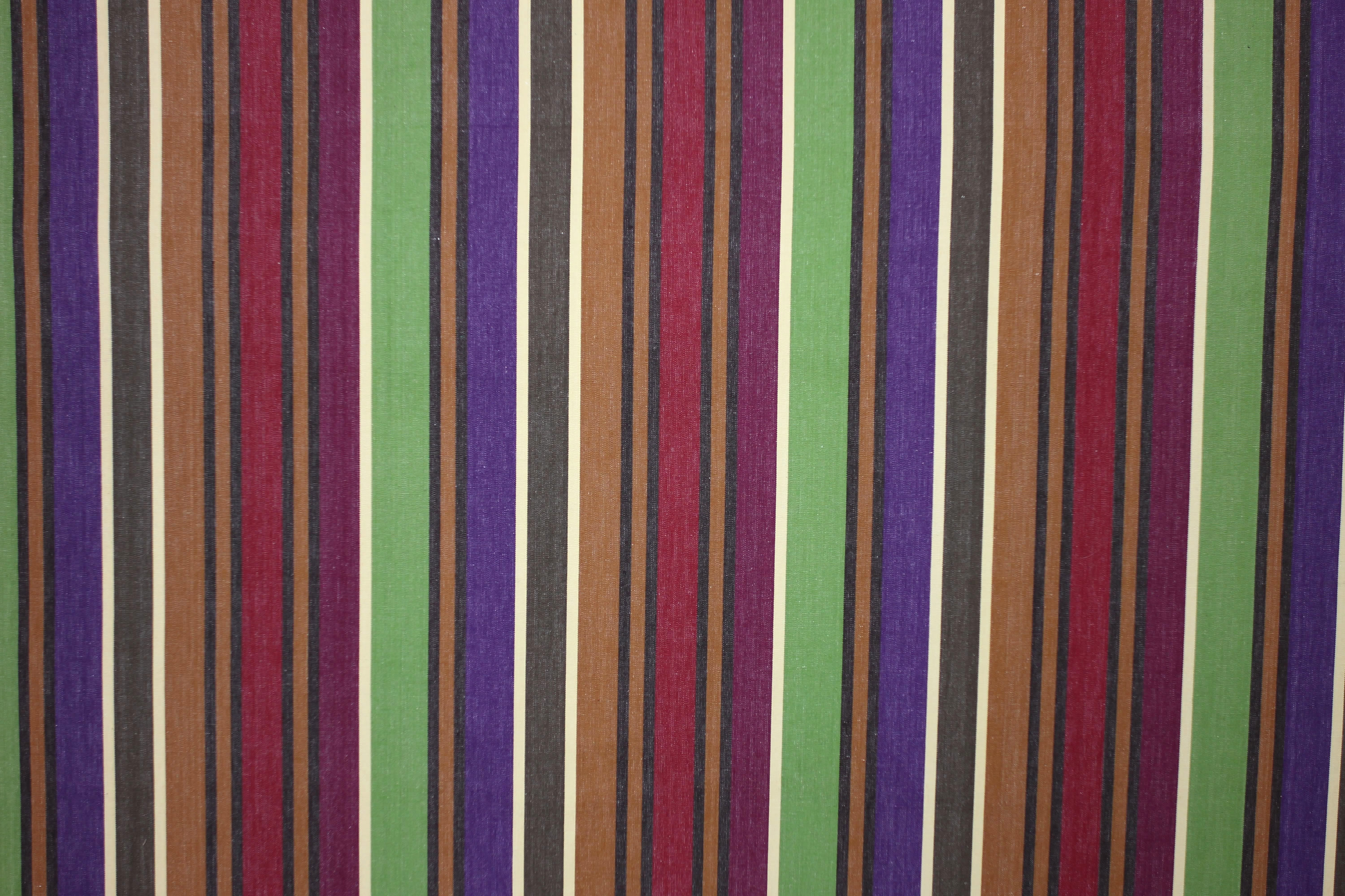 Caramel Striped Fabrics | Stripe Cotton Fabrics | Striped Curtain Fabrics | Upholstery Fabrics  Yoga Stripes
