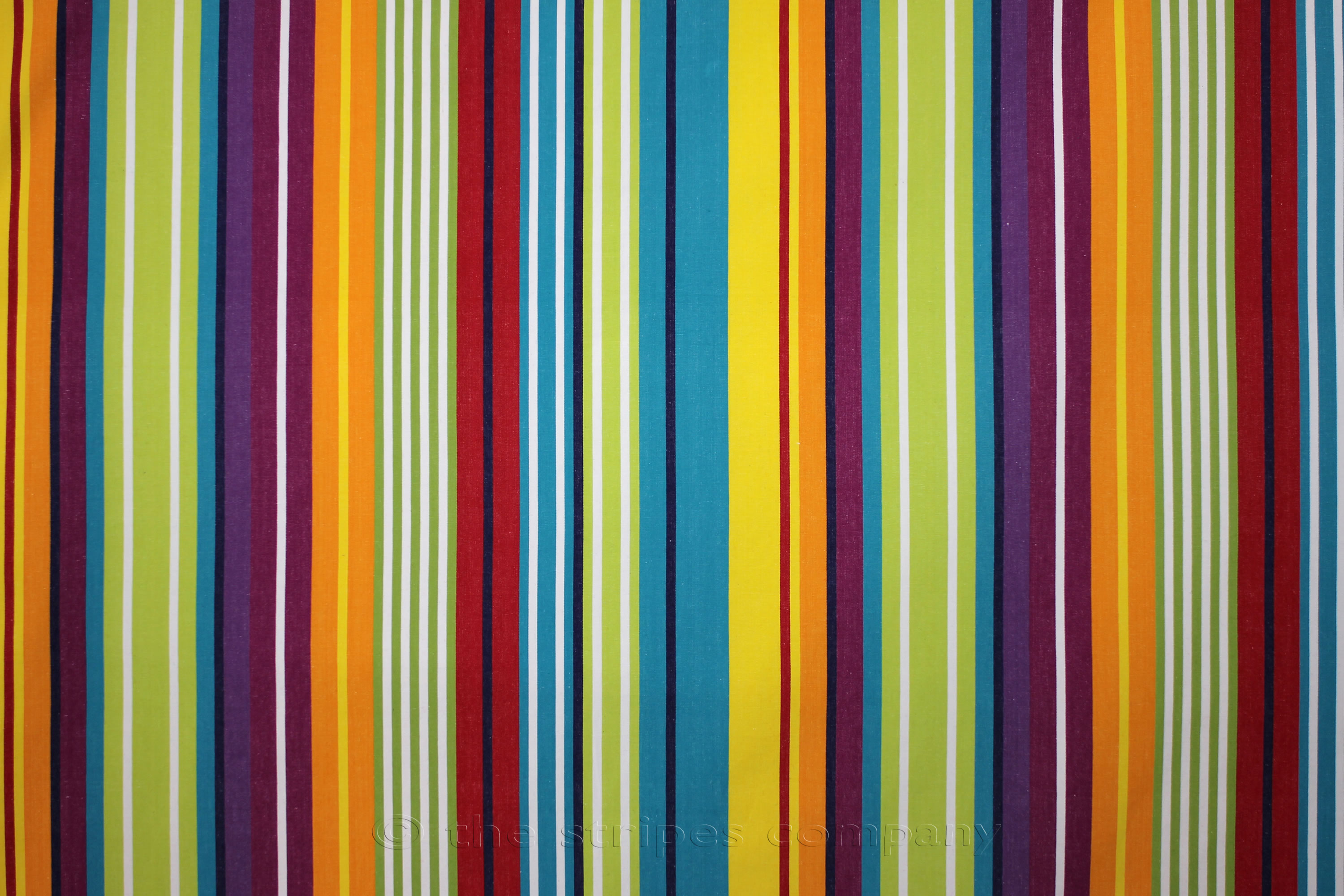 Turquoise Striped Fabrics Stripe Cotton