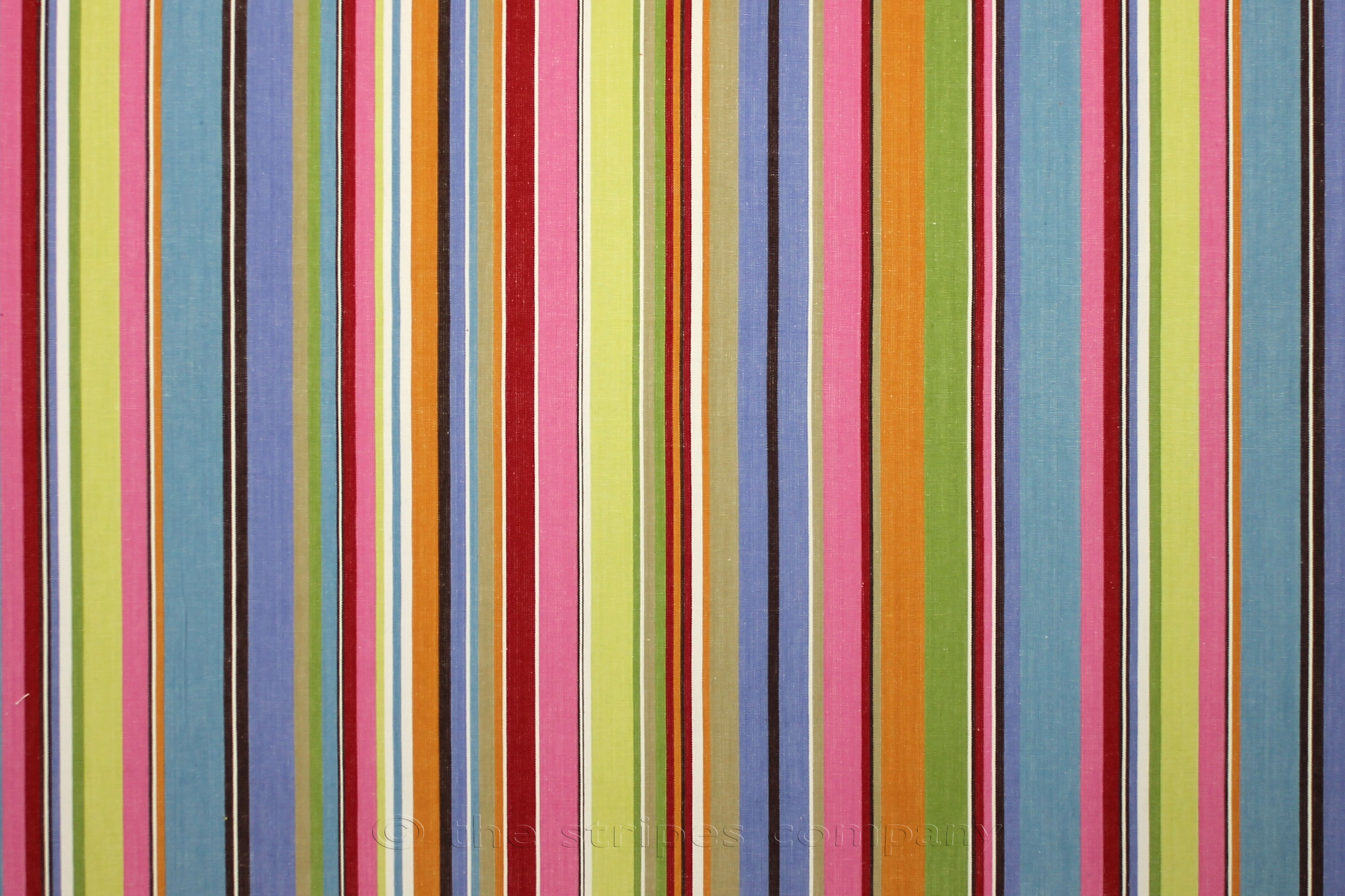 Blue and Pink Striped Fabric - Baseball Stripe