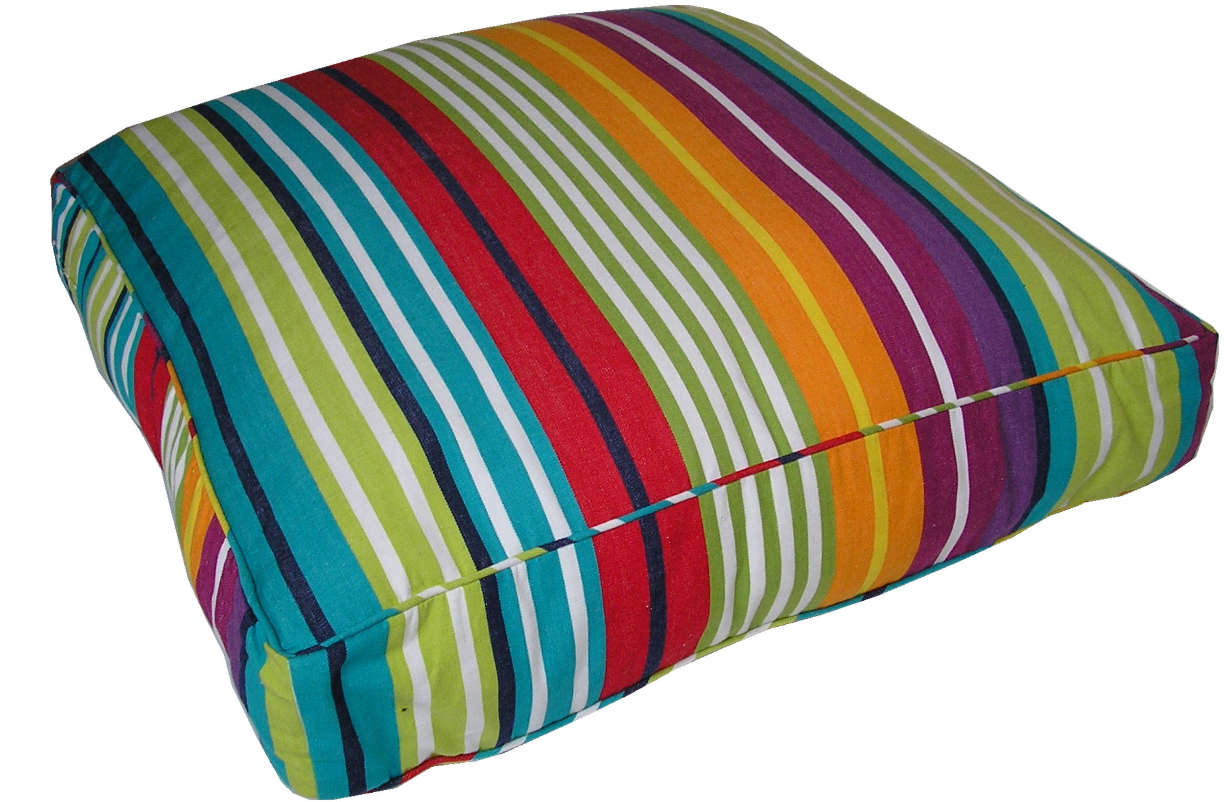 Rainbow Striped Floor Cushions