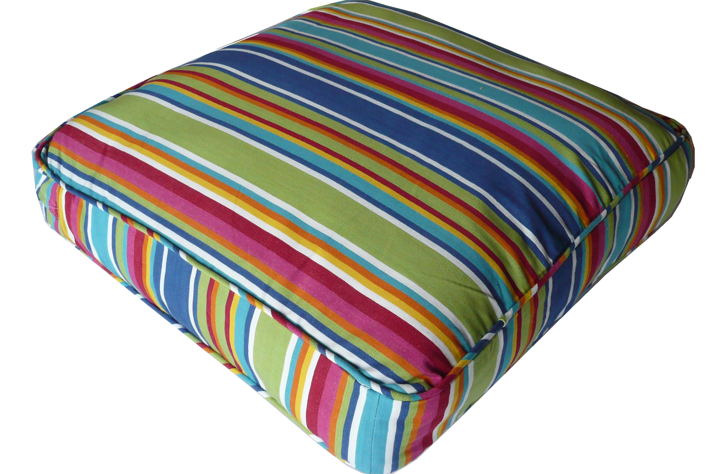 Blue Large Floor Cushions - Climbing Stripe